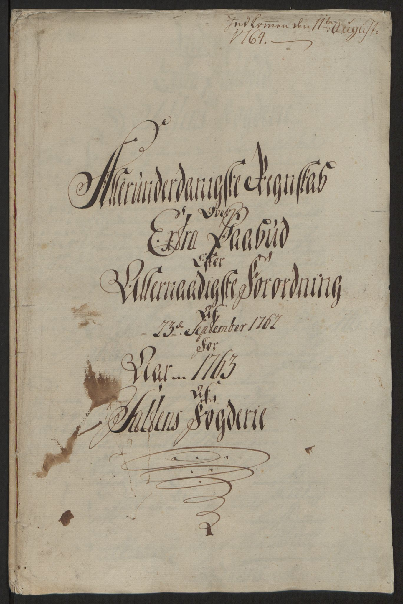 RA, Rentekammeret inntil 1814, Reviderte regnskaper, Fogderegnskap, R66/L4670: Ekstraskatten Salten, 1762-1764, s. 139