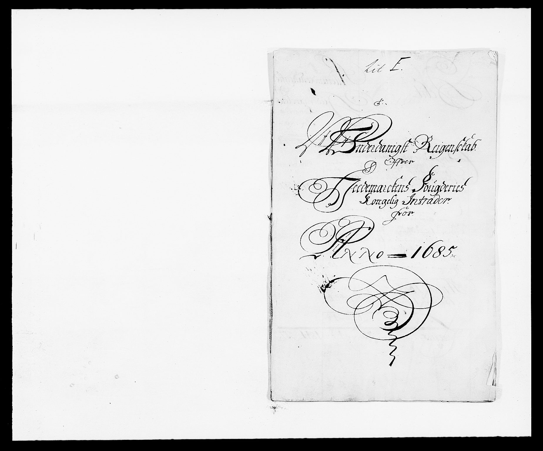RA, Rentekammeret inntil 1814, Reviderte regnskaper, Fogderegnskap, R16/L1026: Fogderegnskap Hedmark, 1685, s. 1