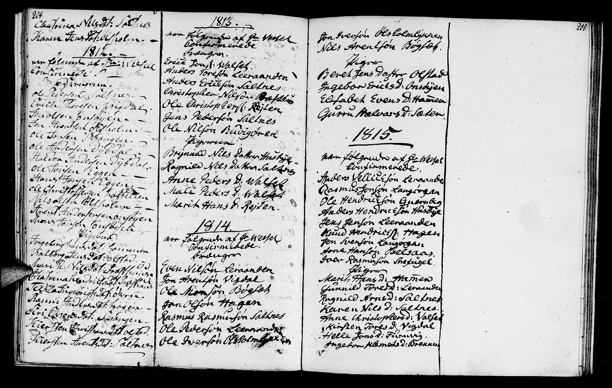 SAT, Ministerialprotokoller, klokkerbøker og fødselsregistre - Sør-Trøndelag, 666/L0785: Ministerialbok nr. 666A03, 1803-1816, s. 204-205