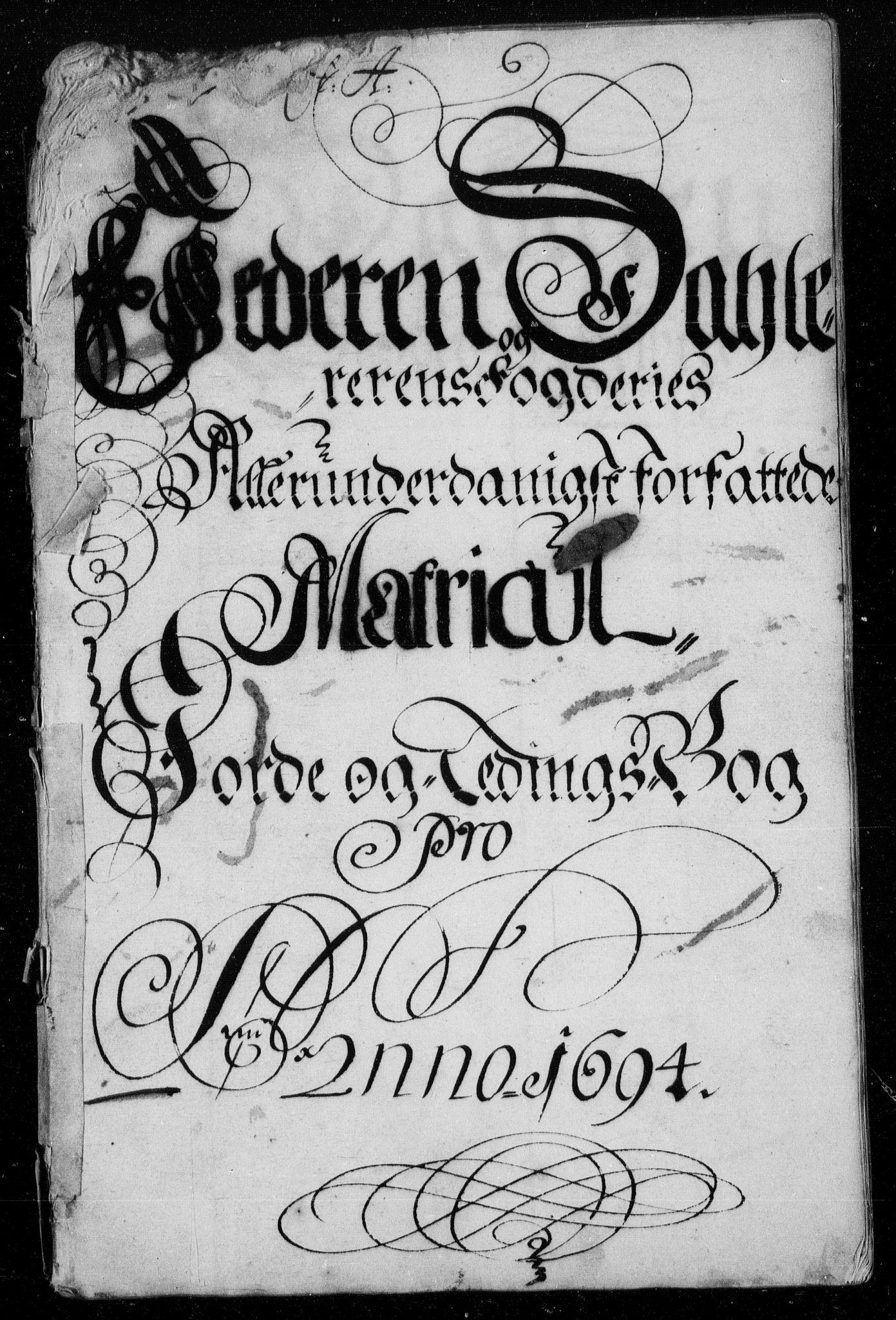 RA, Rentekammeret inntil 1814, Reviderte regnskaper, Fogderegnskap, R46/L2728: Fogderegnskap Jæren og Dalane, 1694-1696, s. 8