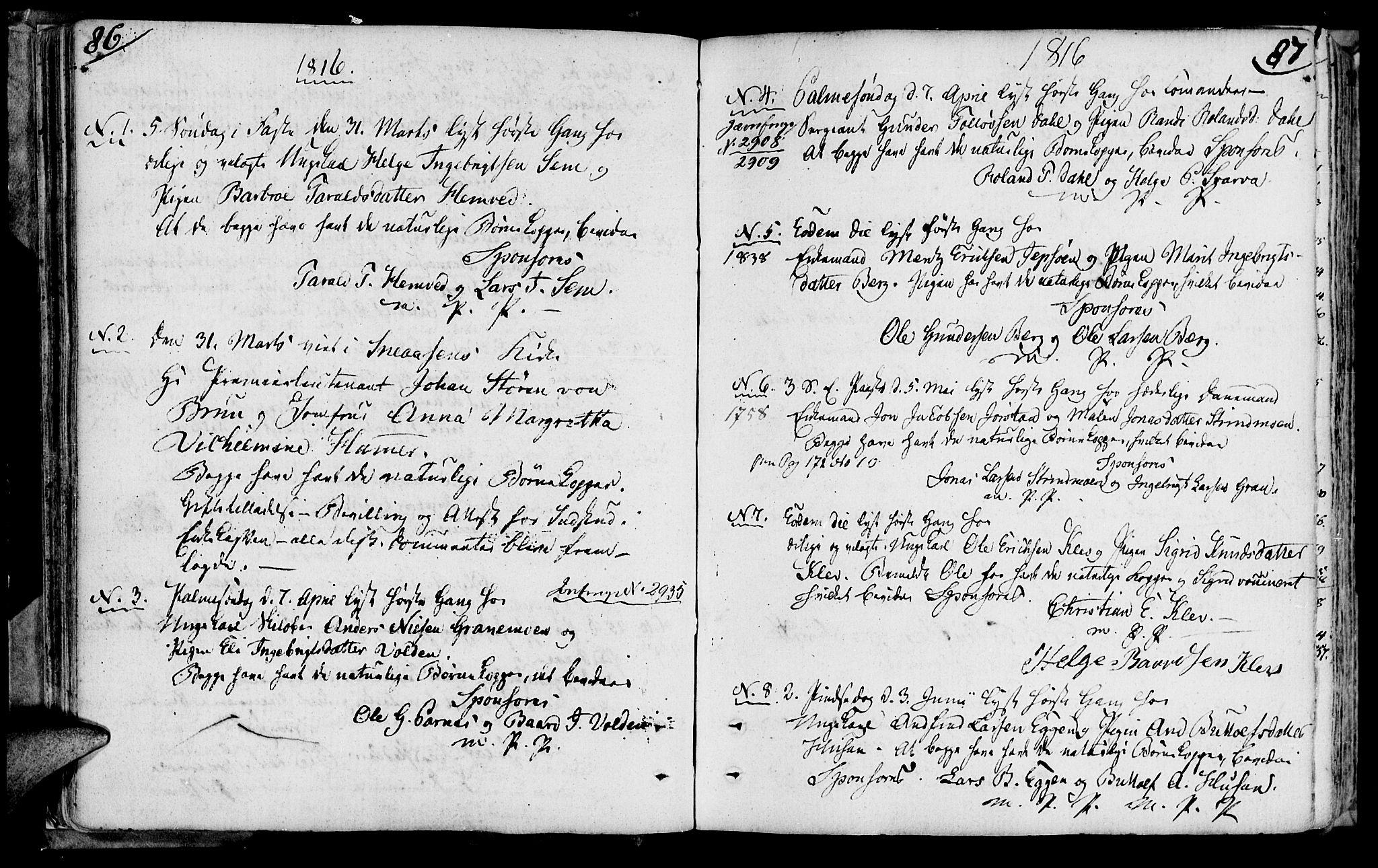 SAT, Ministerialprotokoller, klokkerbøker og fødselsregistre - Nord-Trøndelag, 749/L0468: Ministerialbok nr. 749A02, 1787-1817, s. 86-87