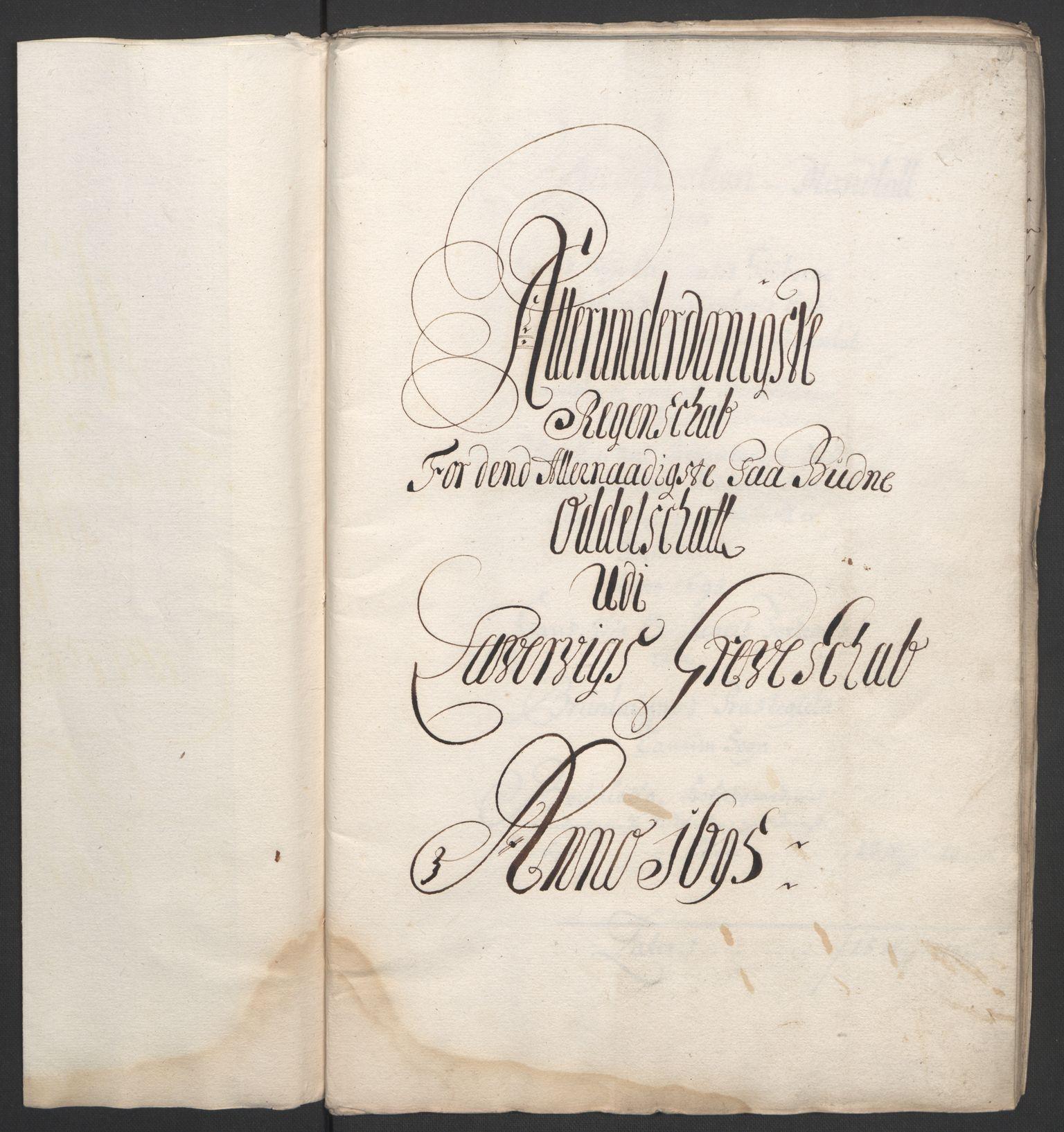 RA, Rentekammeret inntil 1814, Reviderte regnskaper, Fogderegnskap, R33/L1974: Fogderegnskap Larvik grevskap, 1693-1695, s. 203