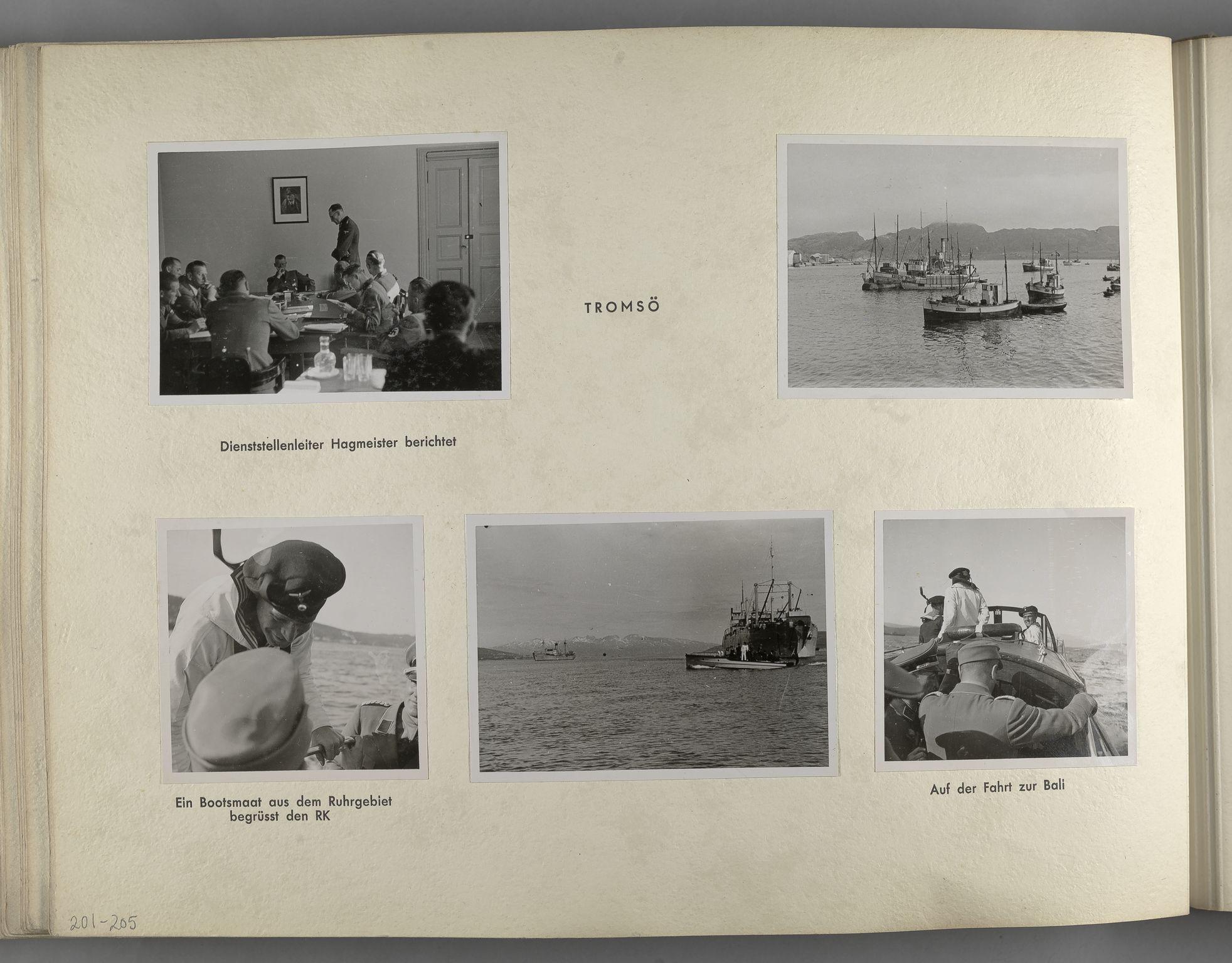 RA, Tyske arkiver, Reichskommissariat, Bildarchiv, U/L0071: Fotoalbum: Mit dem Reichskommissar nach Nordnorwegen und Finnland 10. bis 27. Juli 1942, 1942, s. 84