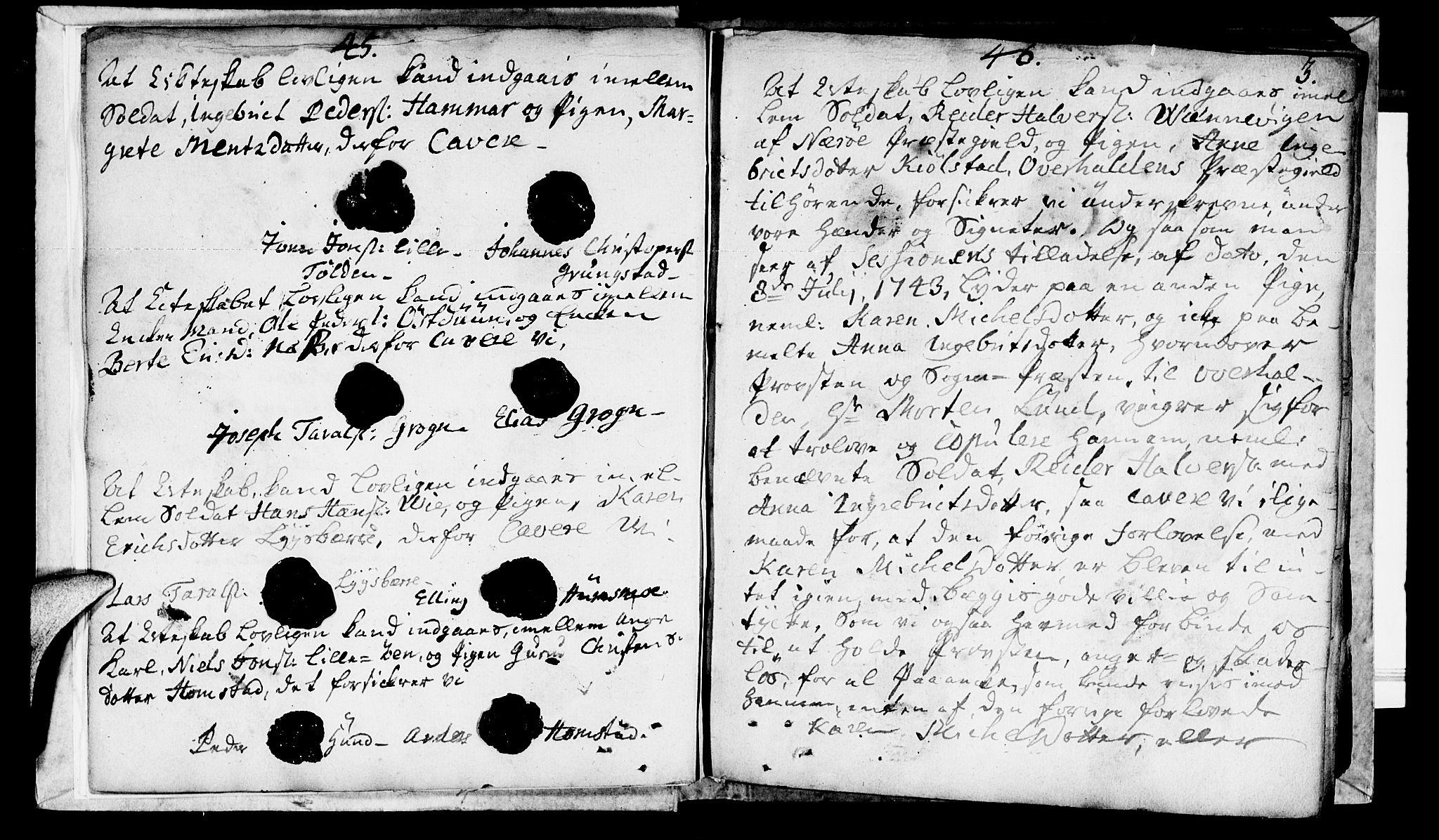 SAT, Ministerialprotokoller, klokkerbøker og fødselsregistre - Nord-Trøndelag, 764/L0541: Ministerialbok nr. 764A01, 1745-1758, s. 3