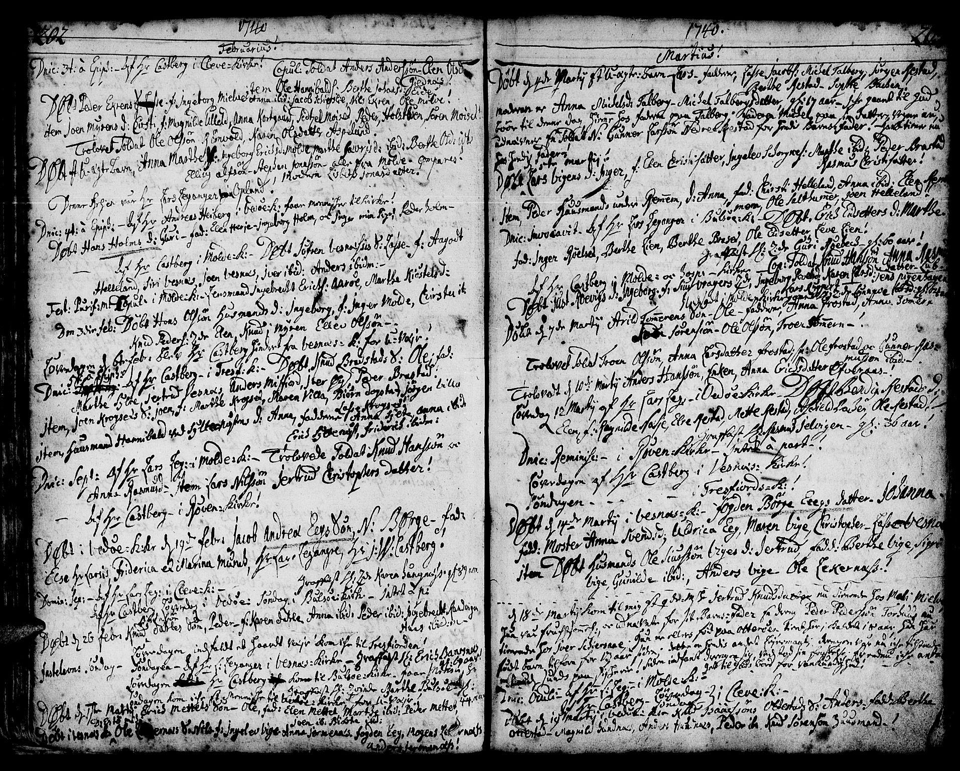 SAT, Ministerialprotokoller, klokkerbøker og fødselsregistre - Møre og Romsdal, 547/L0599: Ministerialbok nr. 547A01, 1721-1764, s. 202-203