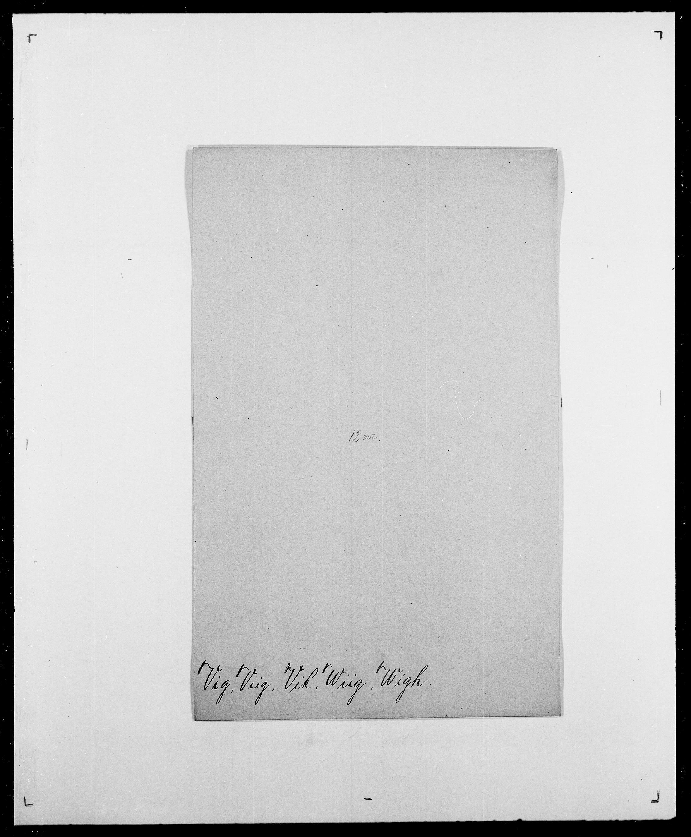 SAO, Delgobe, Charles Antoine - samling, D/Da/L0041: Vemmestad - Viker, s. 666
