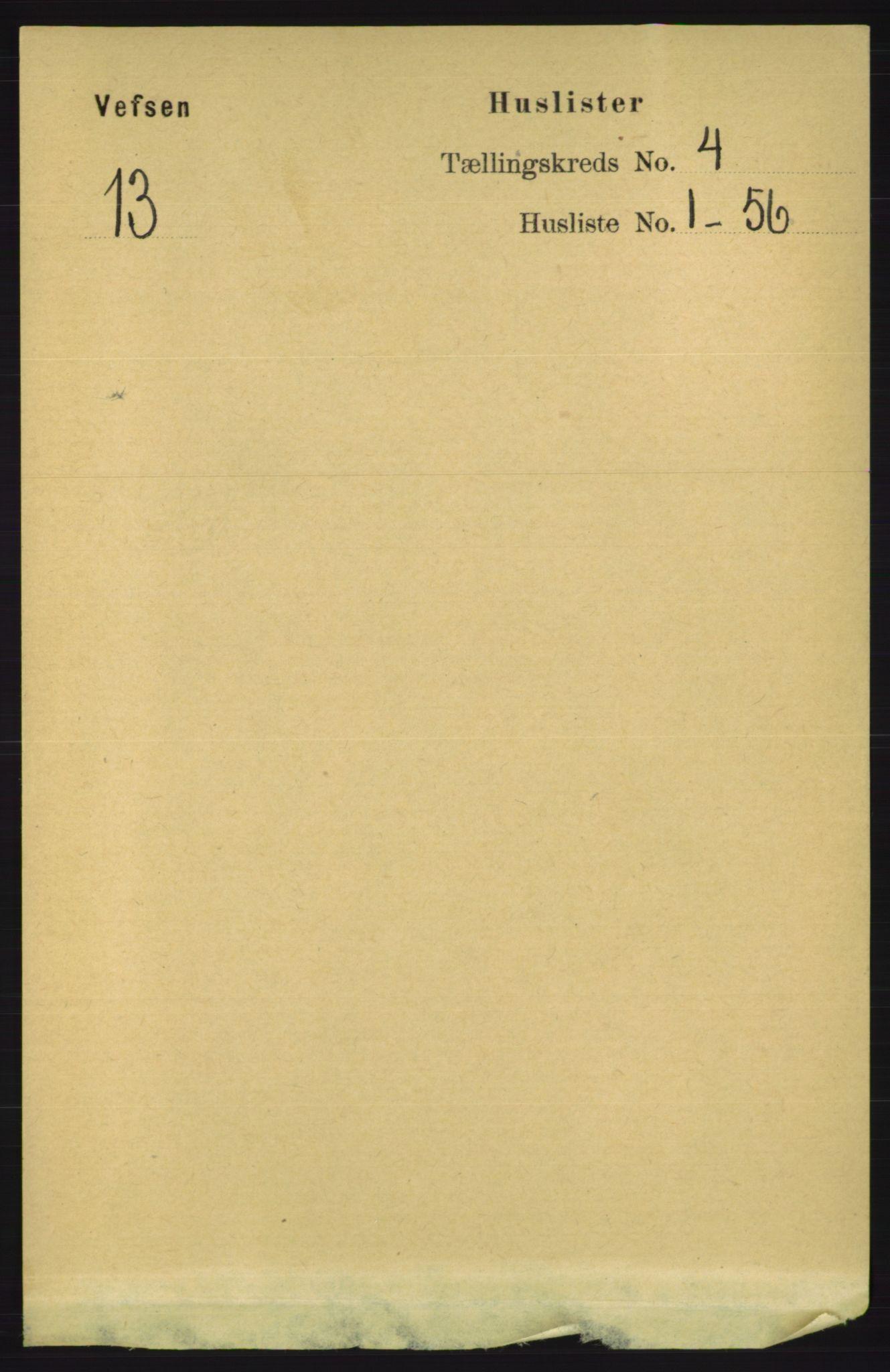 RA, Folketelling 1891 for 1824 Vefsn herred, 1891, s. 1562