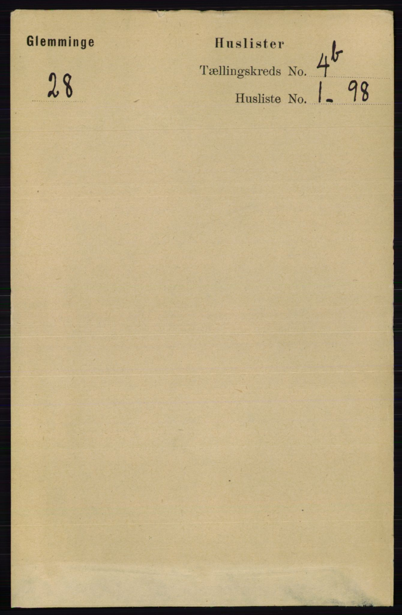 RA, Folketelling 1891 for 0132 Glemmen herred, 1891, s. 4734