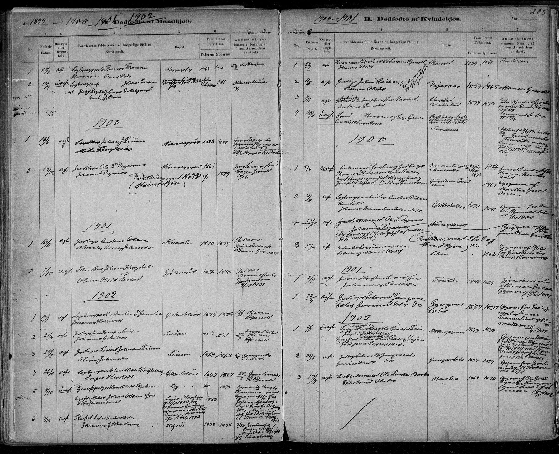 SAT, Ministerialprotokoller, klokkerbøker og fødselsregistre - Sør-Trøndelag, 668/L0811: Ministerialbok nr. 668A11, 1894-1913, s. 205