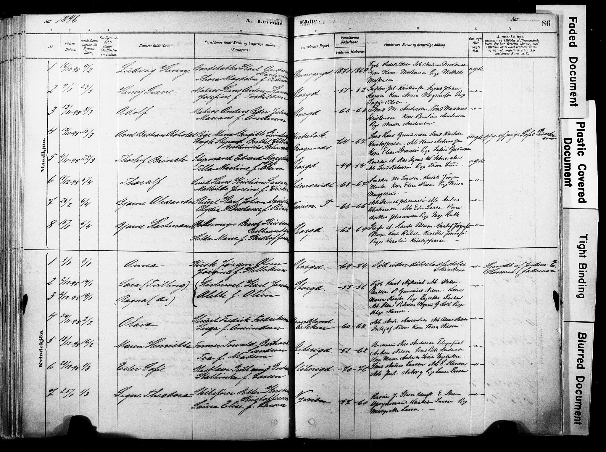 SAKO, Strømsø kirkebøker, F/Fb/L0006: Ministerialbok nr. II 6, 1879-1910, s. 86