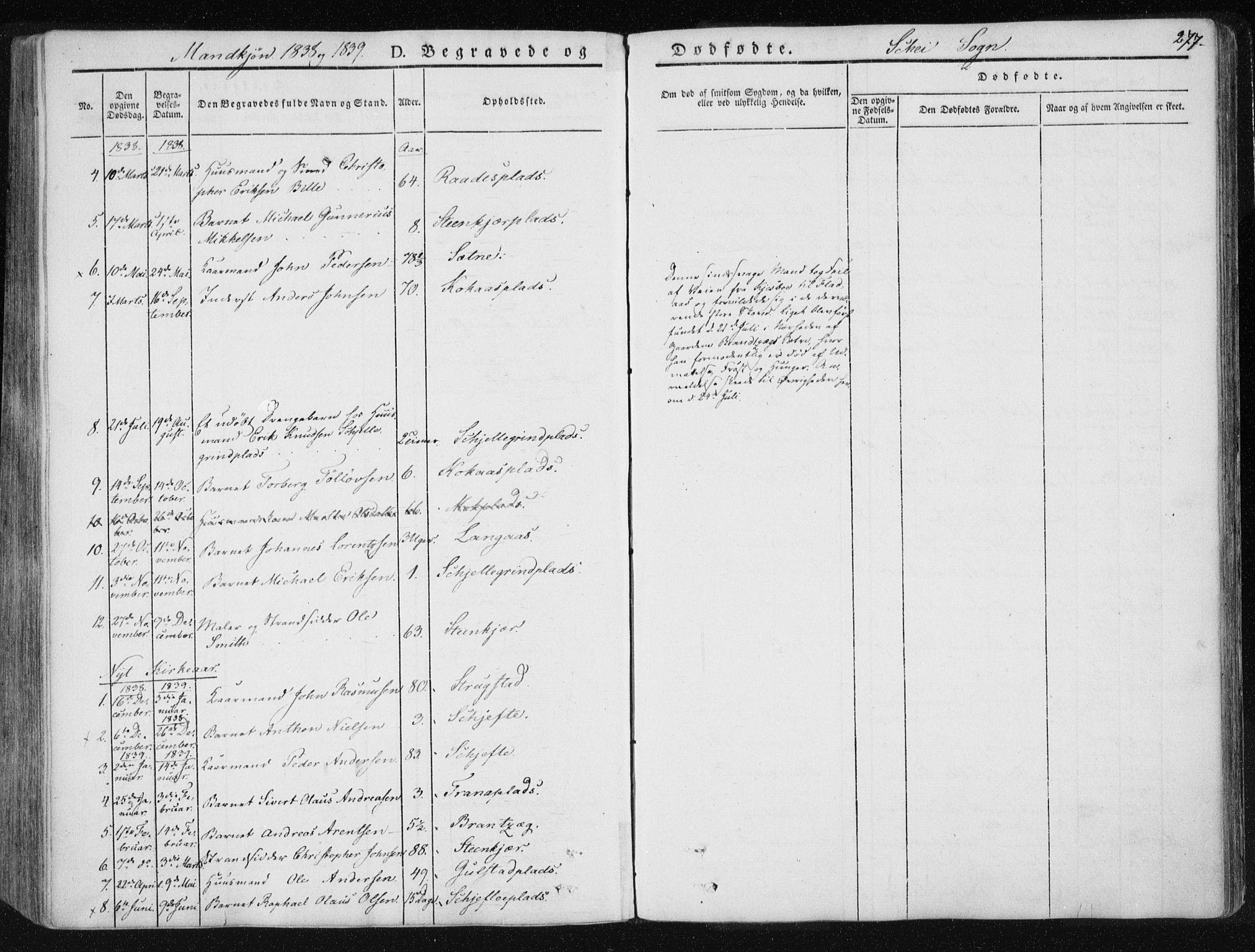 SAT, Ministerialprotokoller, klokkerbøker og fødselsregistre - Nord-Trøndelag, 735/L0339: Ministerialbok nr. 735A06 /2, 1836-1848, s. 277