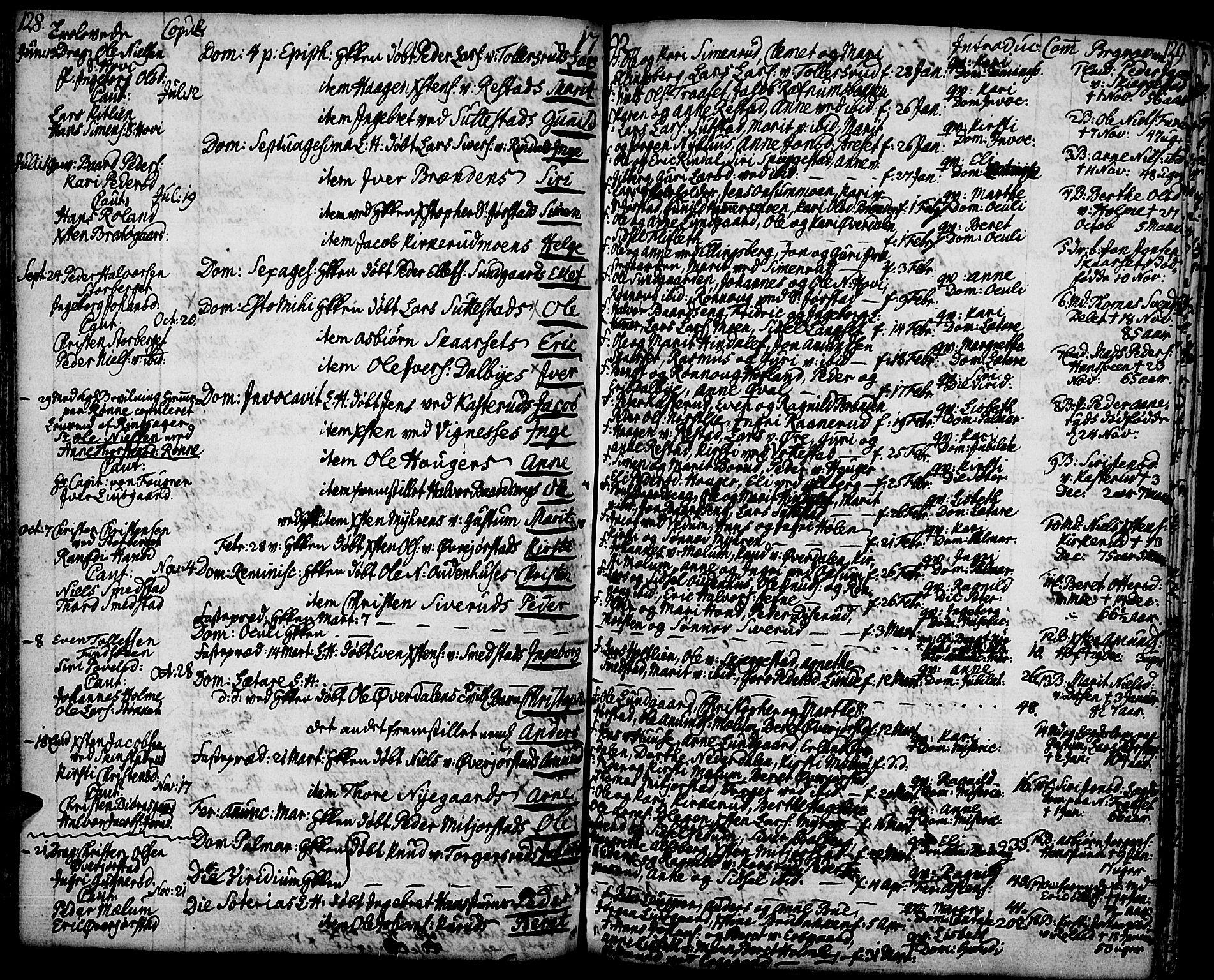 SAH, Fåberg prestekontor, H/Ha/Haa/L0002: Ministerialbok nr. 2, 1775-1818, s. 128-129