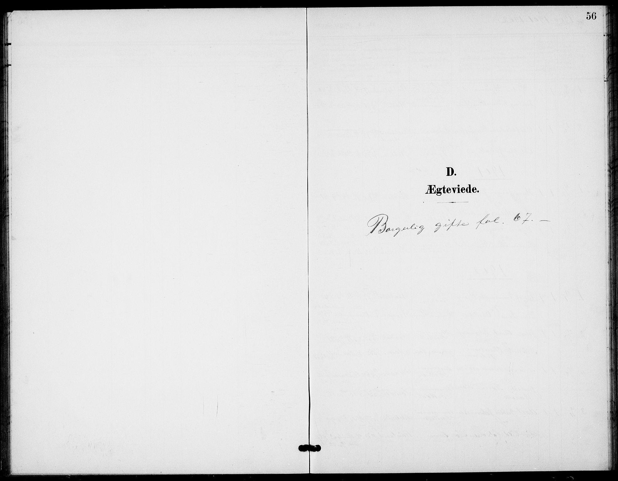 SAKO, Bamble kirkebøker, G/Gb/L0002: Klokkerbok nr. II 2, 1900-1925, s. 56
