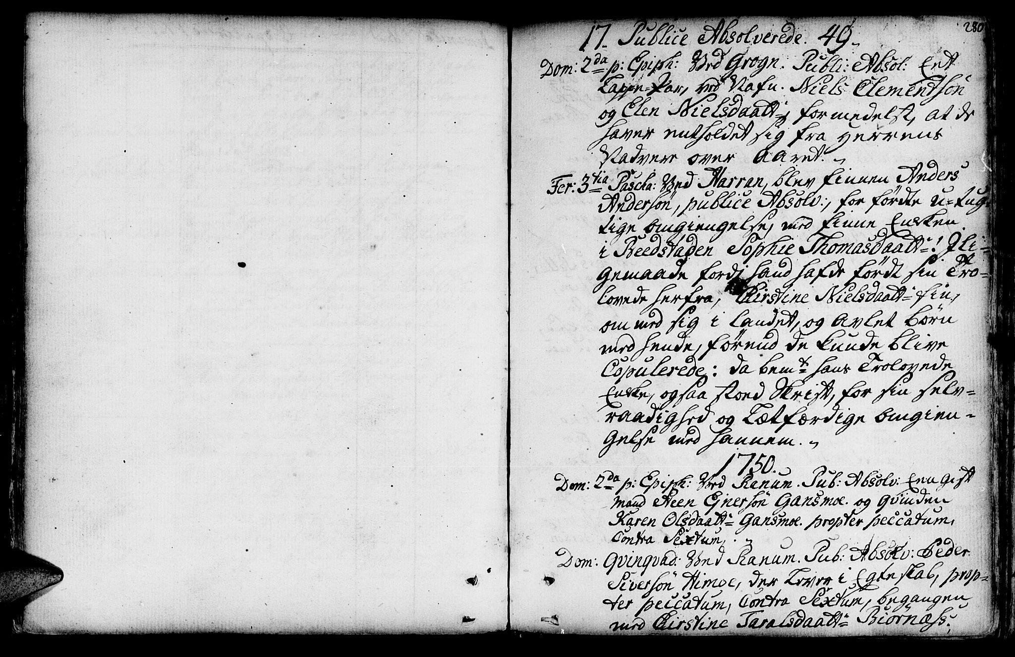 SAT, Ministerialprotokoller, klokkerbøker og fødselsregistre - Nord-Trøndelag, 764/L0542: Ministerialbok nr. 764A02, 1748-1779, s. 280