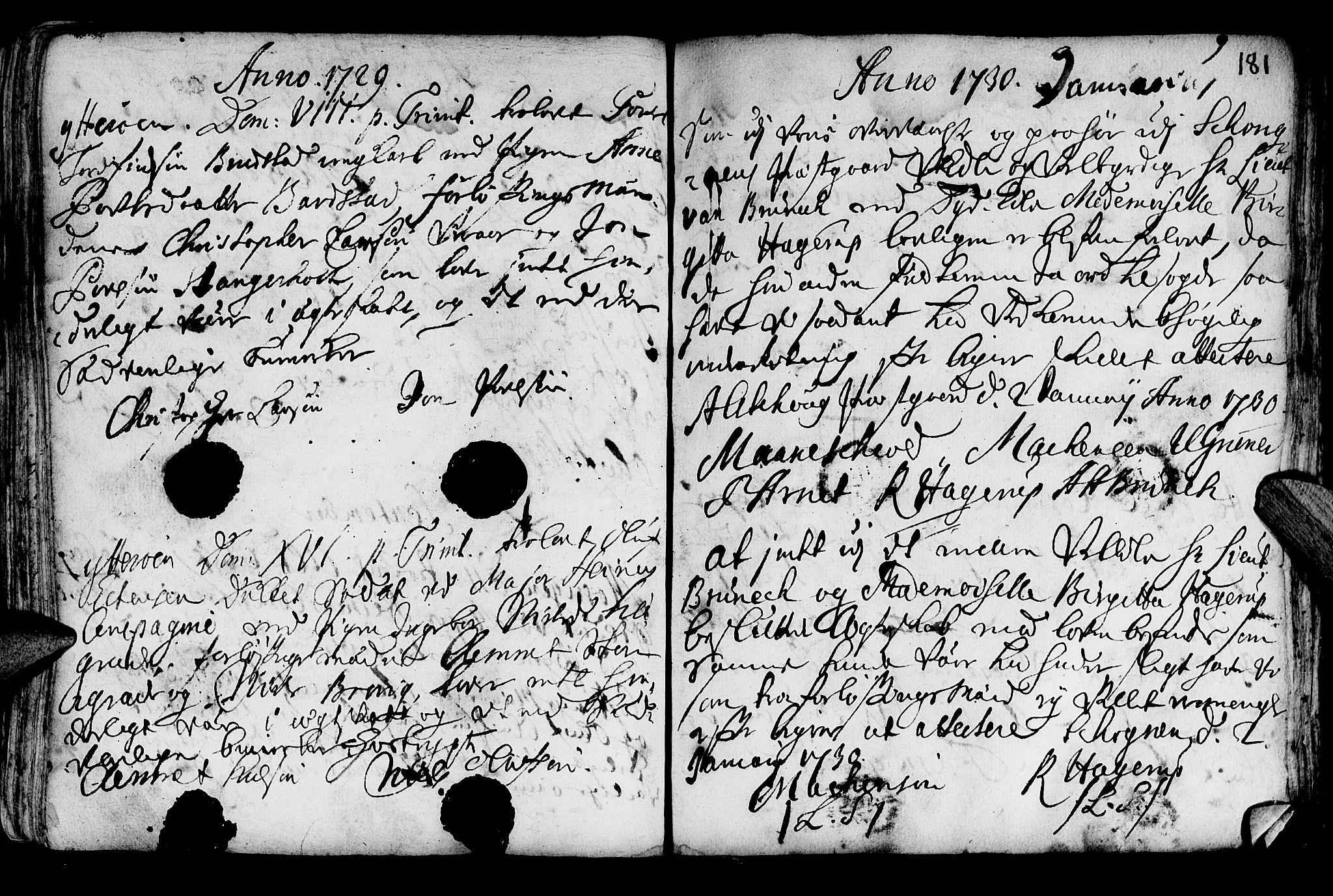SAT, Ministerialprotokoller, klokkerbøker og fødselsregistre - Nord-Trøndelag, 722/L0215: Ministerialbok nr. 722A02, 1718-1755, s. 181