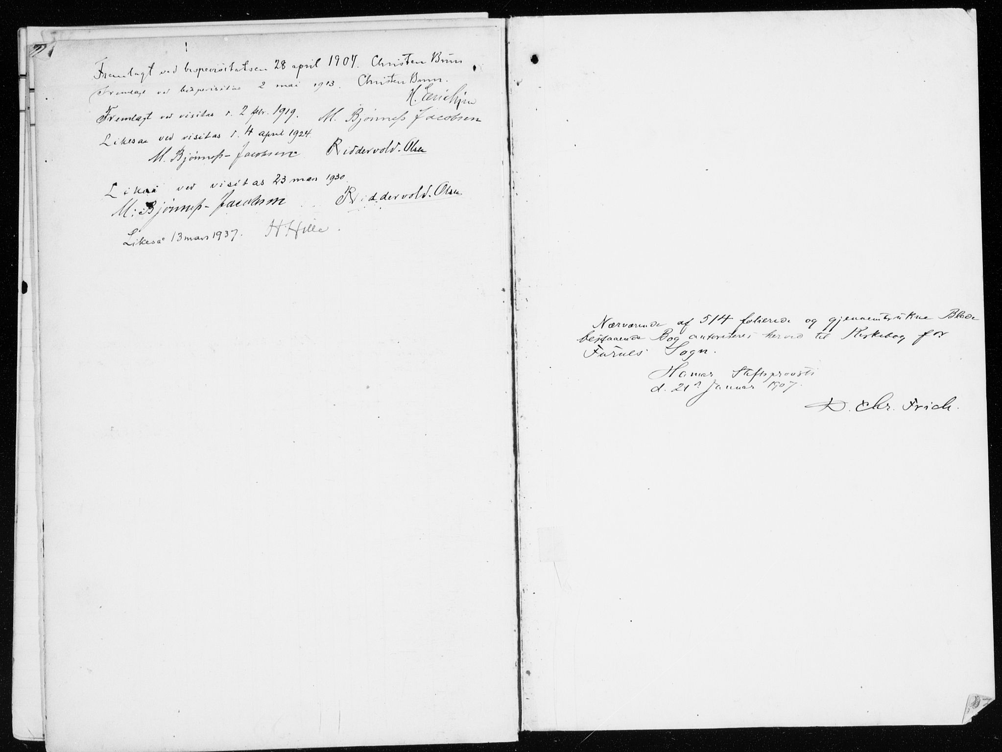 SAH, Furnes prestekontor, K/Ka/L0001: Ministerialbok nr. 1, 1907-1935