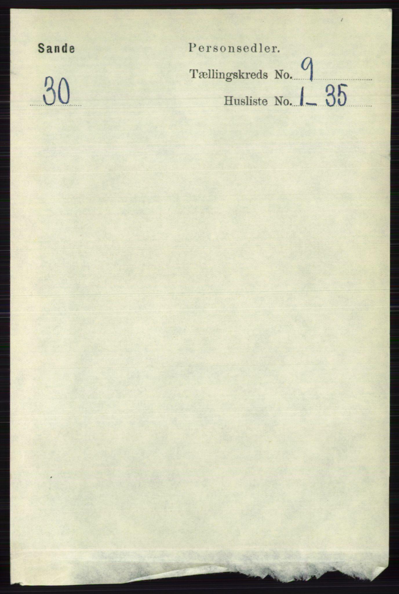 RA, Folketelling 1891 for 0713 Sande herred, 1891, s. 3931