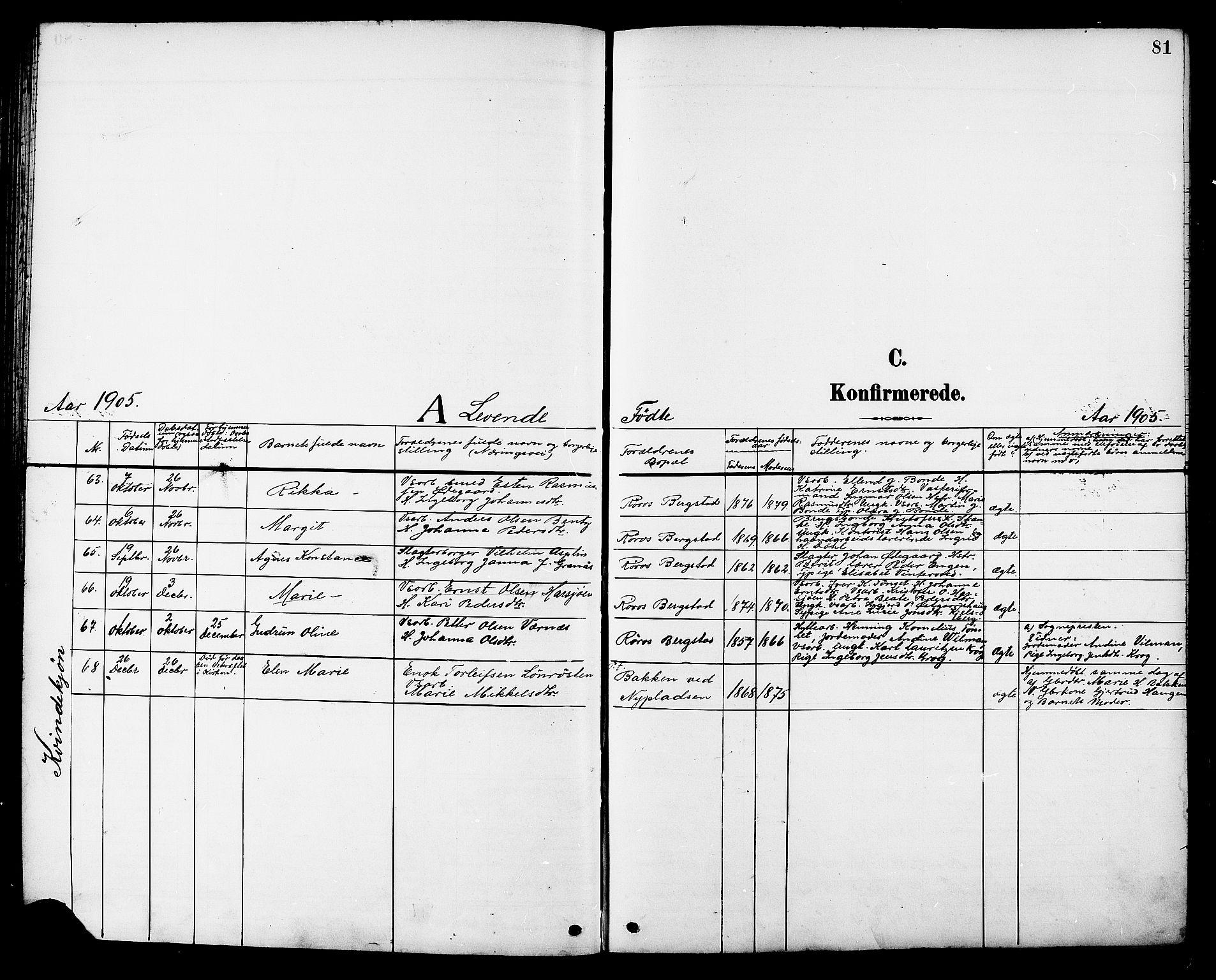 SAT, Ministerialprotokoller, klokkerbøker og fødselsregistre - Sør-Trøndelag, 681/L0941: Klokkerbok nr. 681C05, 1896-1905, s. 81