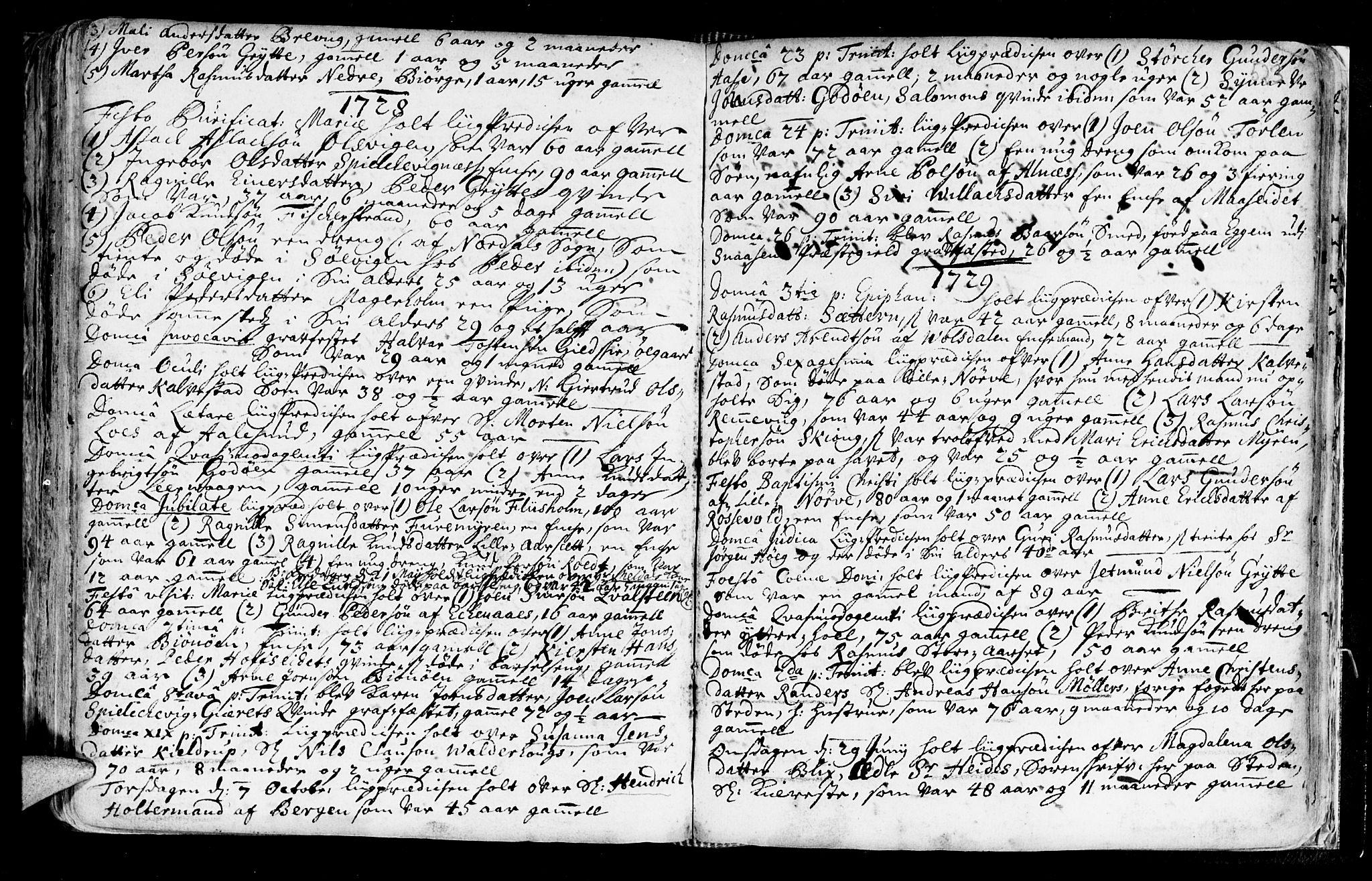 SAT, Ministerialprotokoller, klokkerbøker og fødselsregistre - Møre og Romsdal, 528/L0390: Ministerialbok nr. 528A01, 1698-1739, s. 522-523