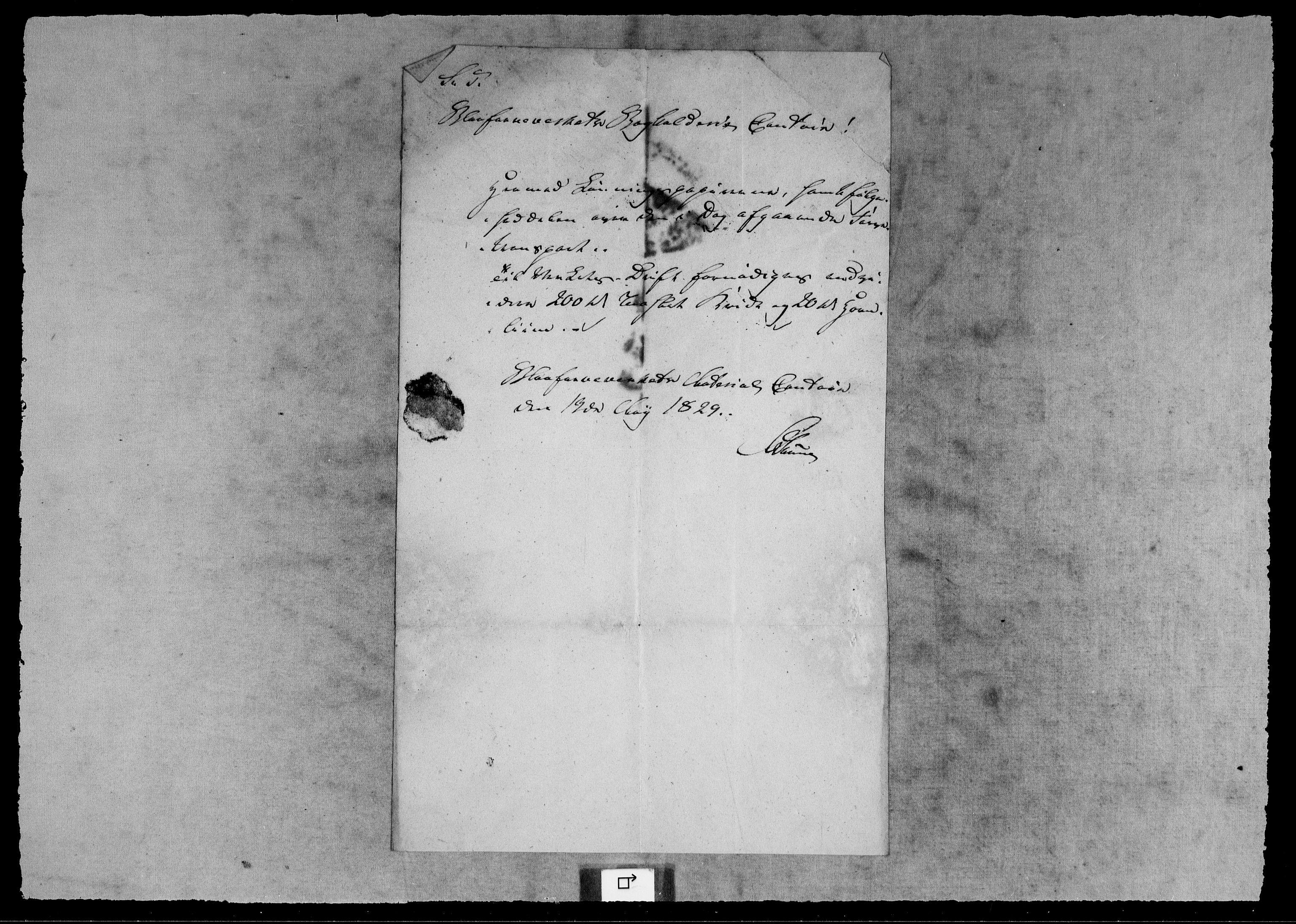 RA, Modums Blaafarveværk, G/Gb/L0138, 1829-1831, s. 2