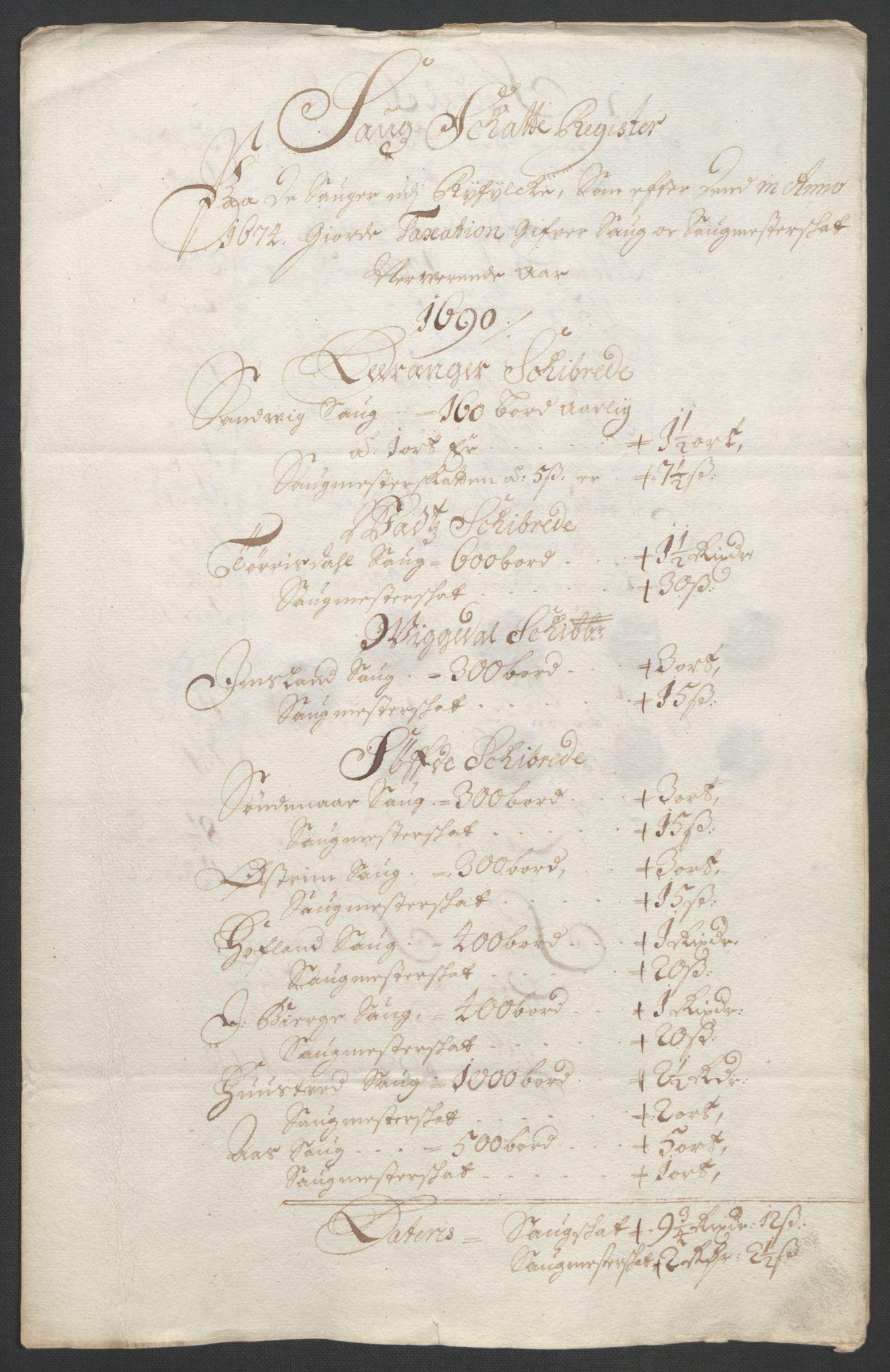 RA, Rentekammeret inntil 1814, Reviderte regnskaper, Fogderegnskap, R47/L2856: Fogderegnskap Ryfylke, 1689-1693, s. 230
