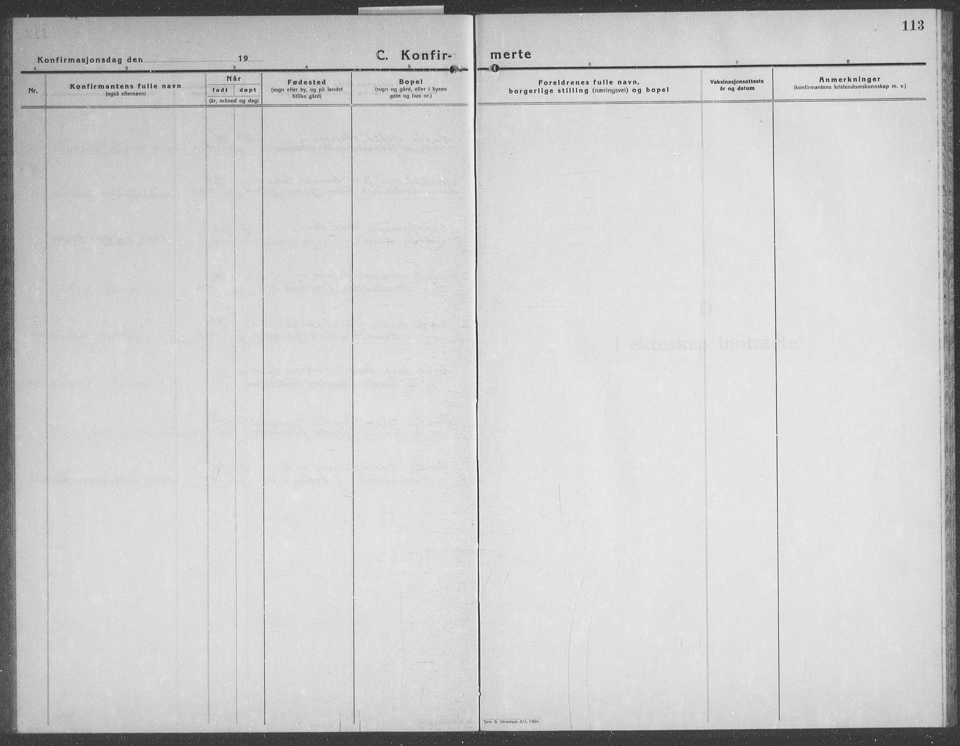 SAT, Ministerialprotokoller, klokkerbøker og fødselsregistre - Nord-Trøndelag, 749/L0481: Klokkerbok nr. 749C03, 1933-1945, s. 113