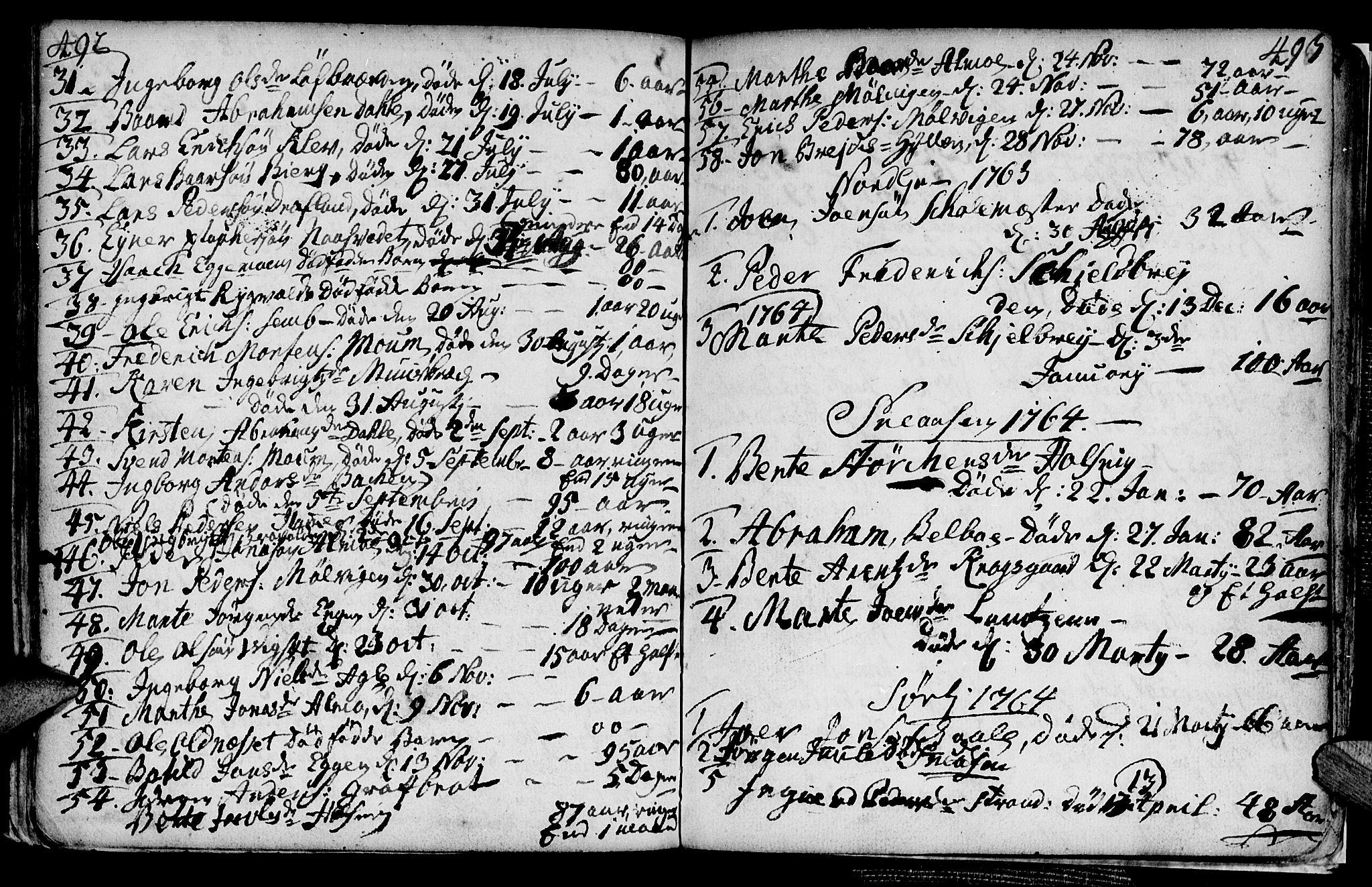 SAT, Ministerialprotokoller, klokkerbøker og fødselsregistre - Nord-Trøndelag, 749/L0467: Ministerialbok nr. 749A01, 1733-1787, s. 492-493