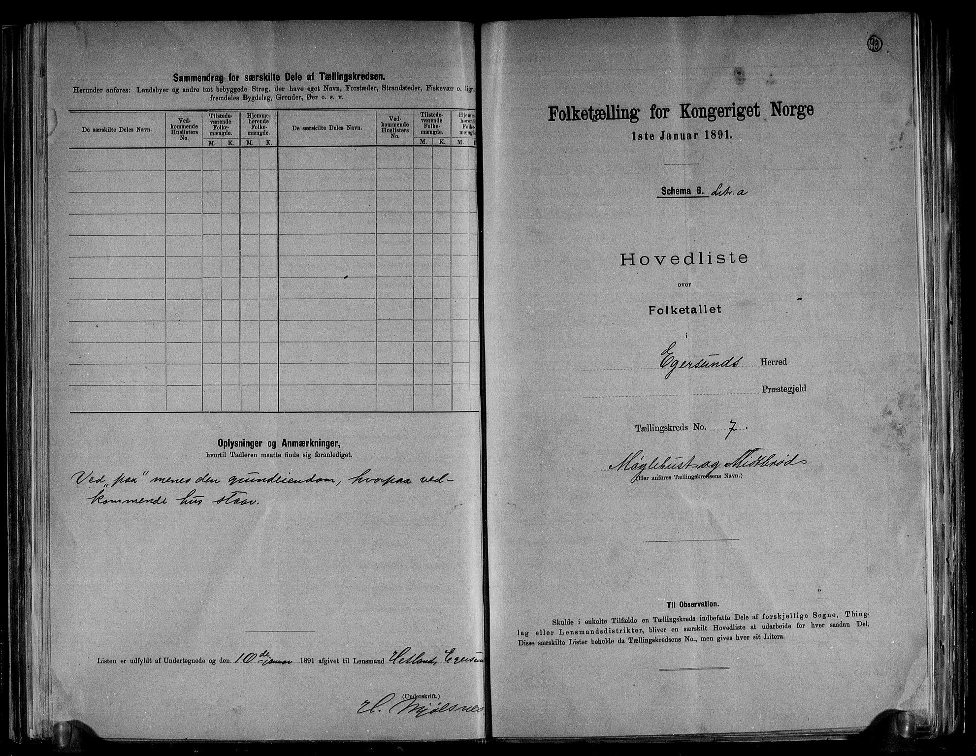 RA, Folketelling 1891 for 1116 Eigersund herred, 1891, s. 16