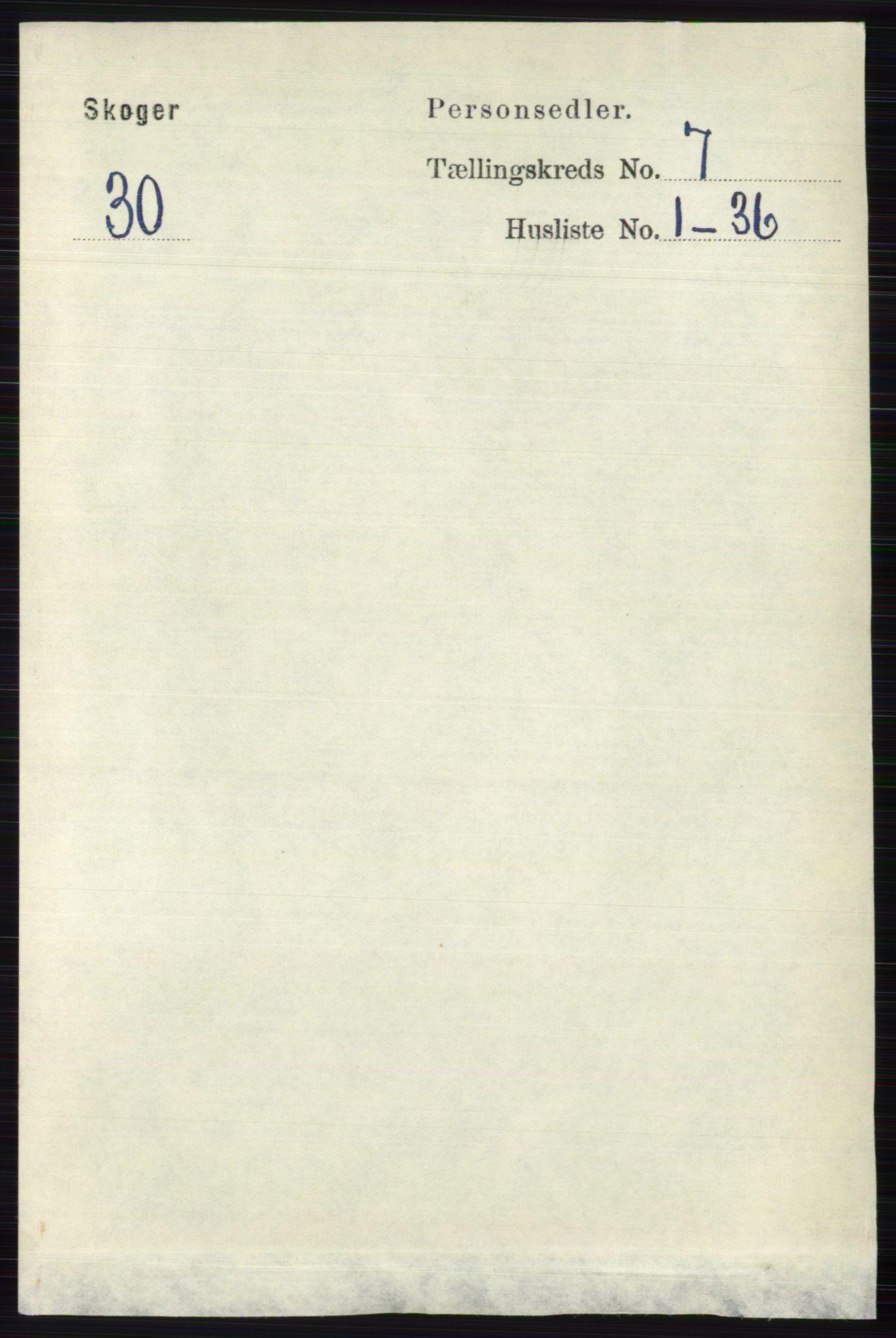 RA, Folketelling 1891 for 0712 Skoger herred, 1891, s. 3845