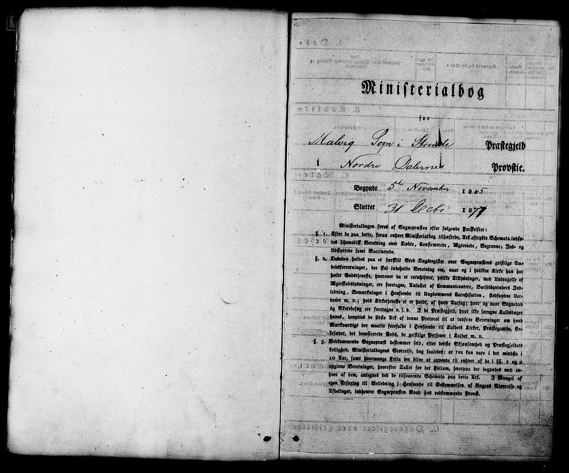 SAT, Ministerialprotokoller, klokkerbøker og fødselsregistre - Sør-Trøndelag, 616/L0409: Ministerialbok nr. 616A06, 1865-1877