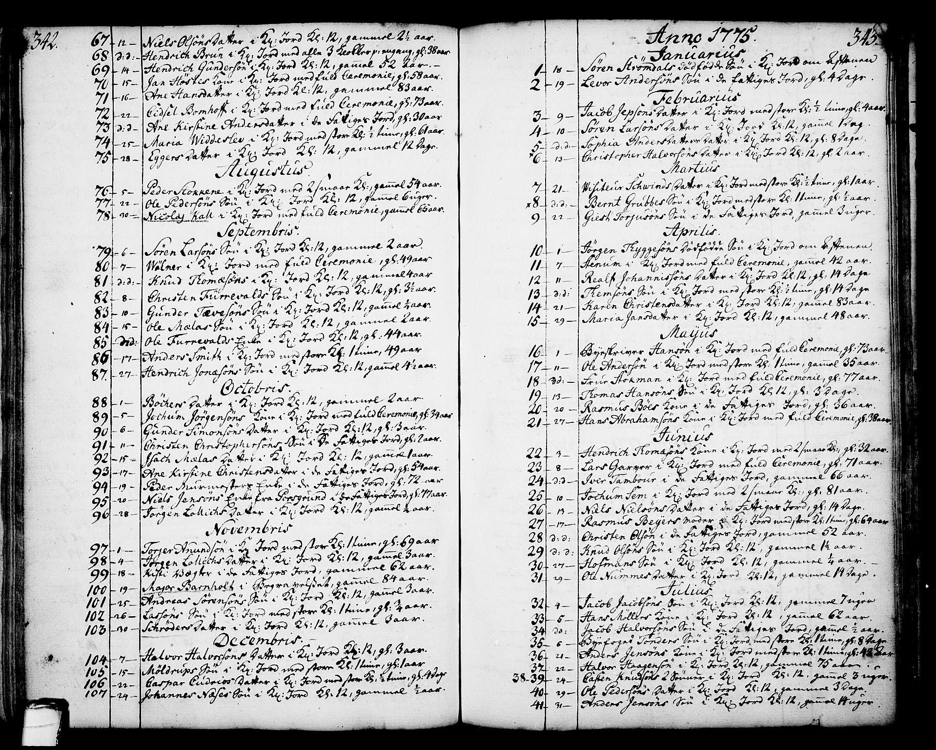 SAKO, Skien kirkebøker, F/Fa/L0003: Ministerialbok nr. 3, 1755-1791, s. 342-343