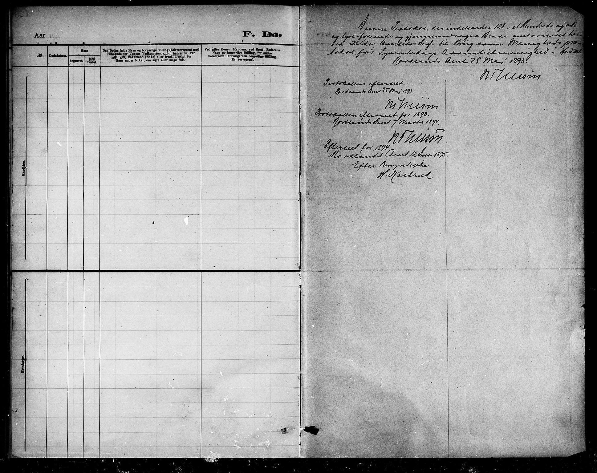 SAT, Dissenterprotokoll nr. 888D01, 1889-1902