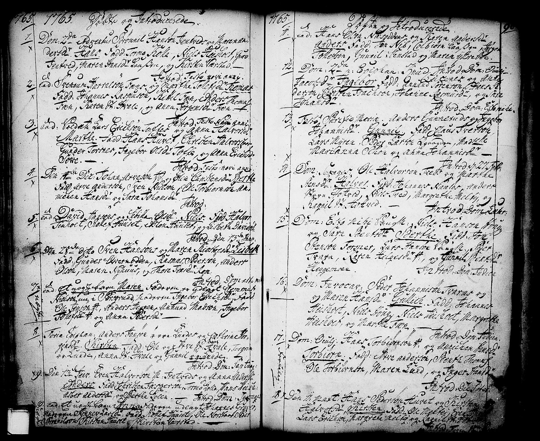 SAKO, Holla kirkebøker, F/Fa/L0001: Ministerialbok nr. 1, 1717-1779, s. 96