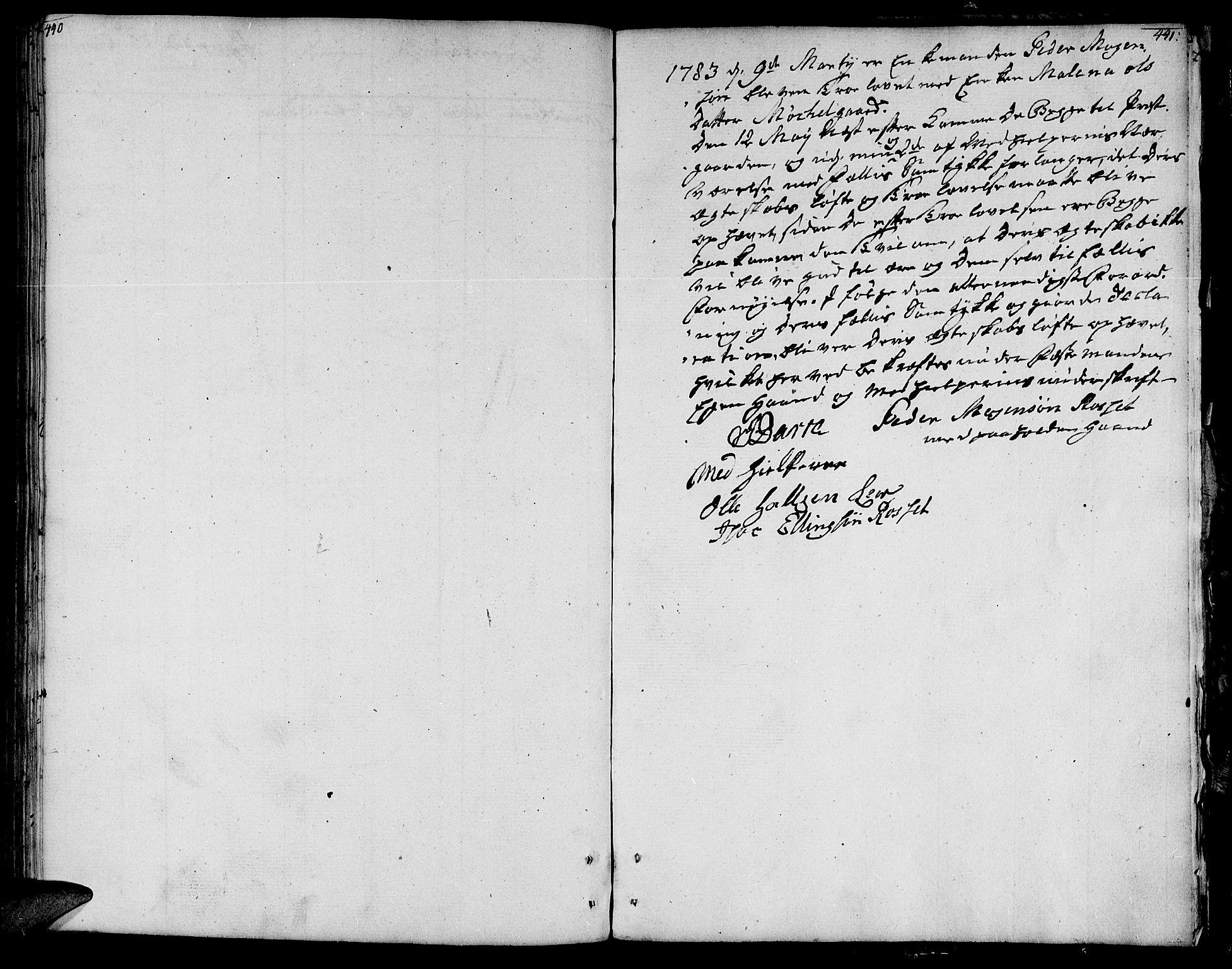 SAT, Ministerialprotokoller, klokkerbøker og fødselsregistre - Nord-Trøndelag, 764/L0544: Ministerialbok nr. 764A04, 1780-1798, s. 440-441