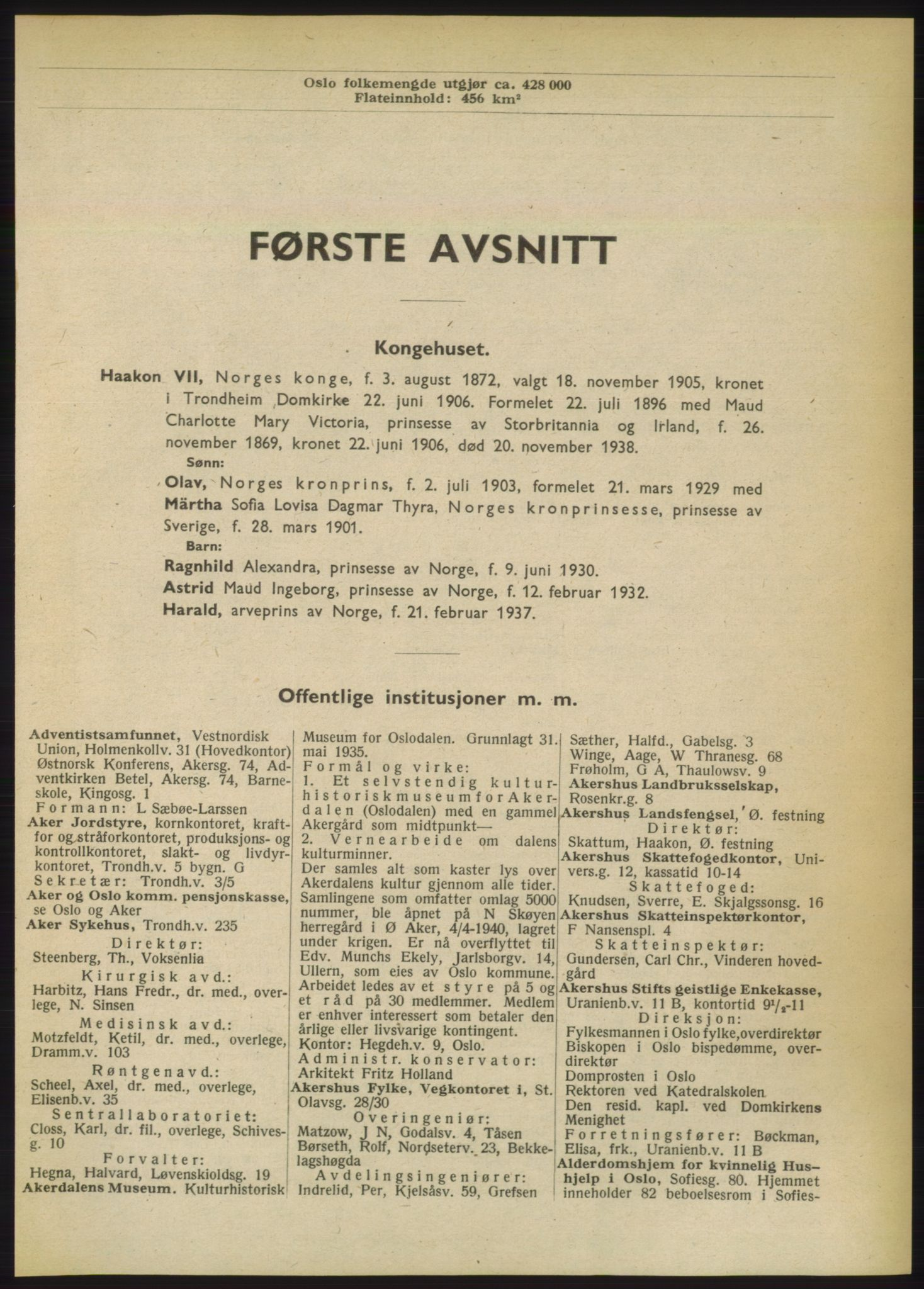 RA, Oslo adressebok (publikasjon)*, 1949, s. 1