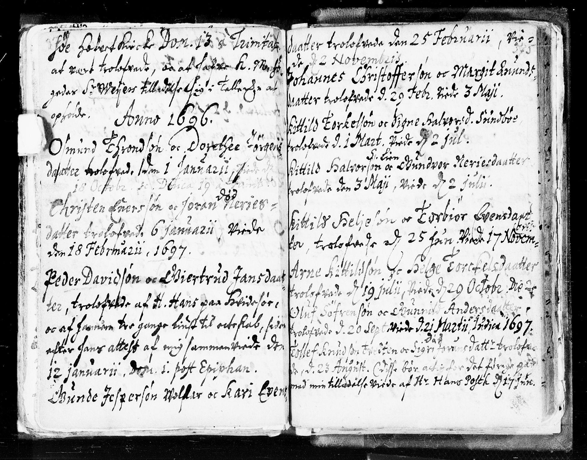 SAKO, Seljord kirkebøker, F/Fa/L0002: Ministerialbok nr. I 2, 1689-1713, s. 374-375