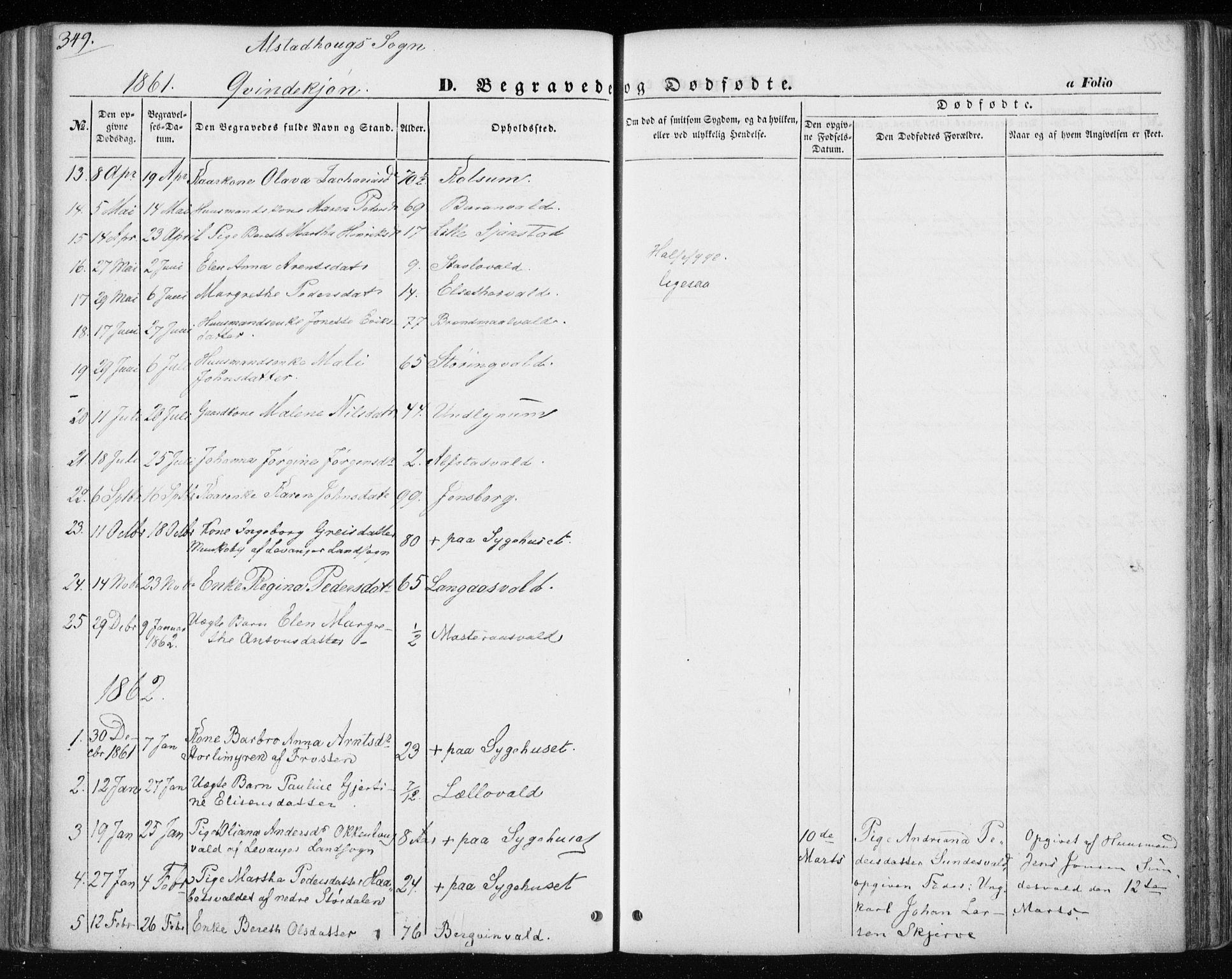 SAT, Ministerialprotokoller, klokkerbøker og fødselsregistre - Nord-Trøndelag, 717/L0154: Ministerialbok nr. 717A07 /1, 1850-1862, s. 349