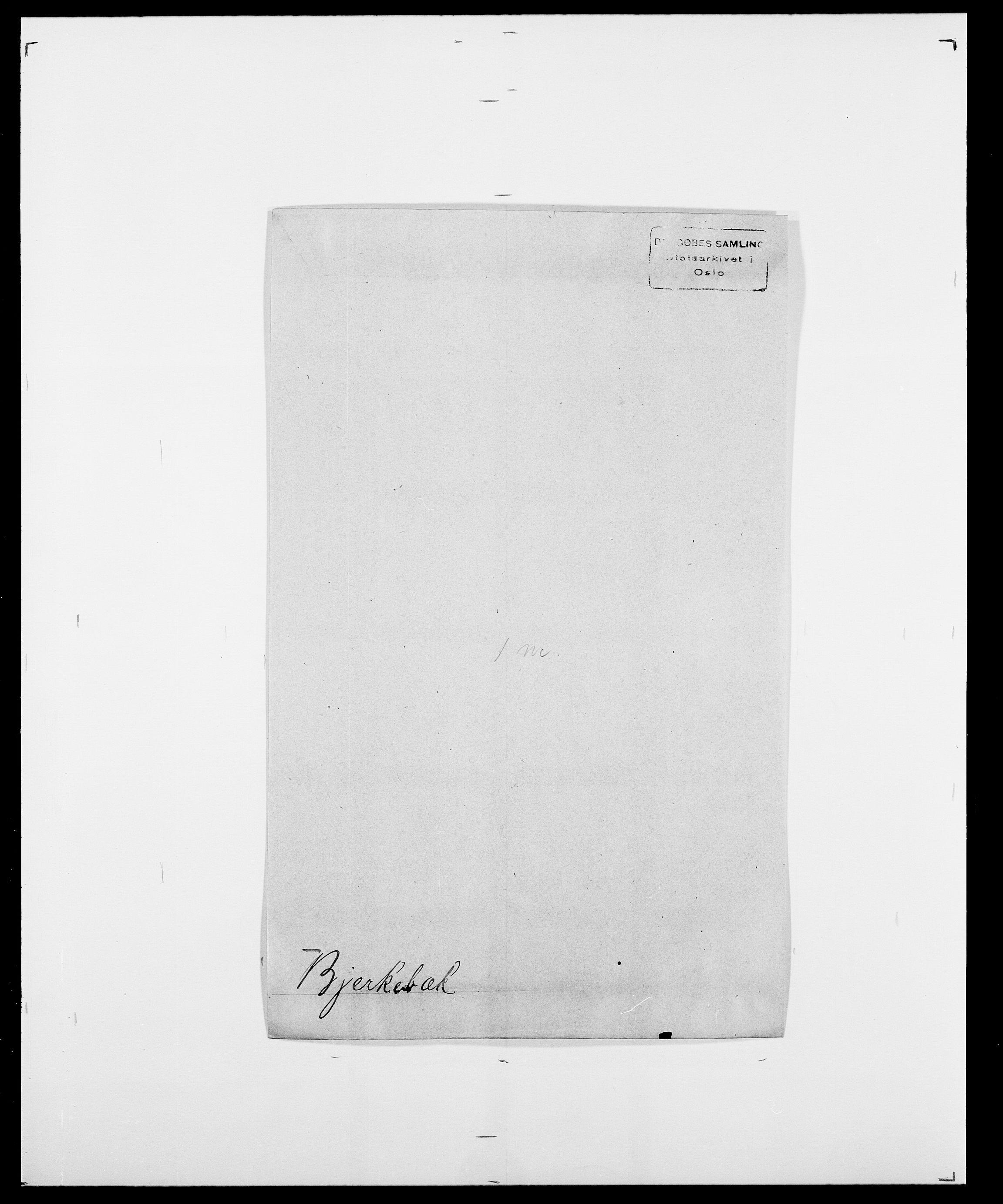 SAO, Delgobe, Charles Antoine - samling, D/Da/L0004: Bergendahl - Blære, s. 431
