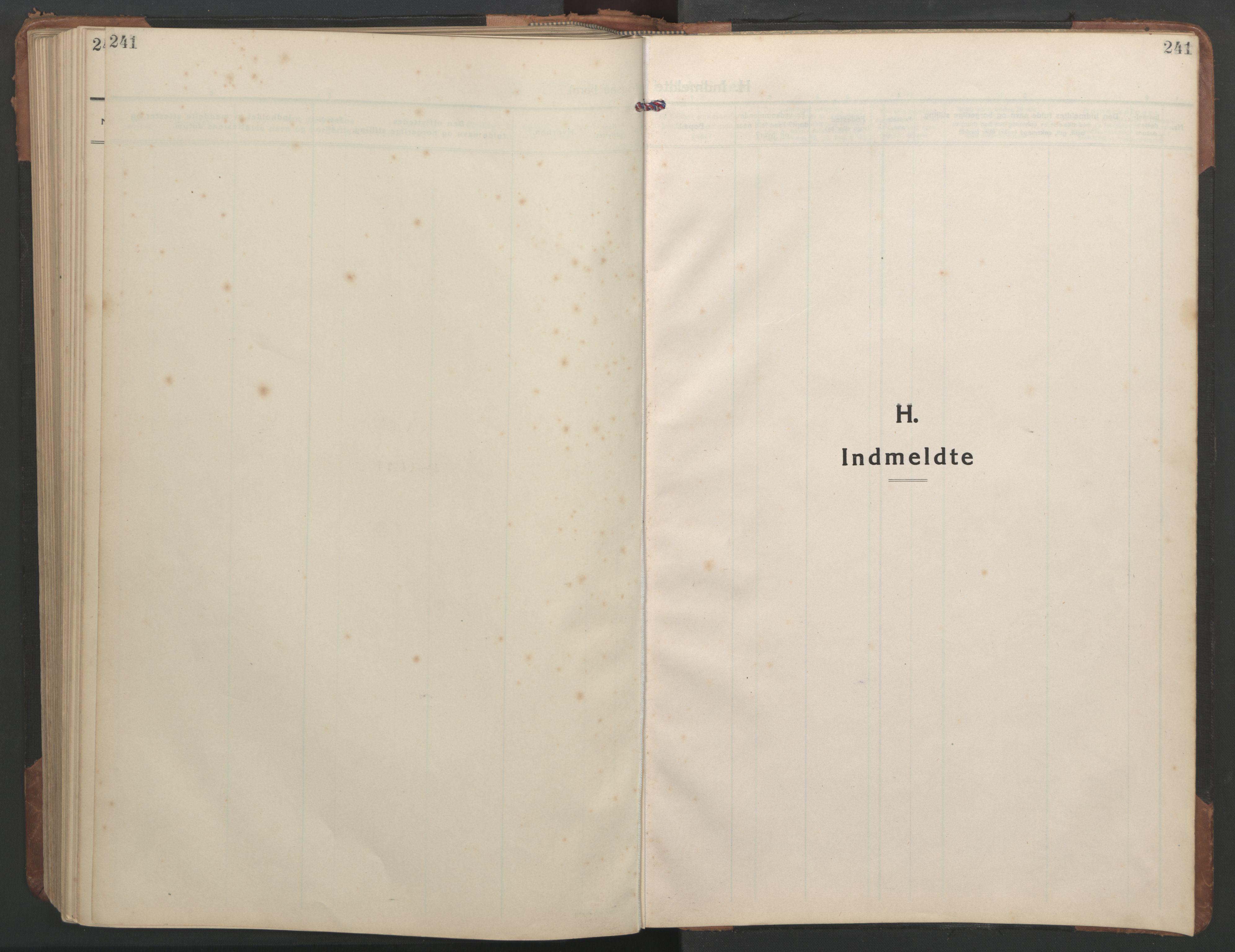 SAT, Ministerialprotokoller, klokkerbøker og fødselsregistre - Sør-Trøndelag, 638/L0569: Klokkerbok nr. 638C01, 1923-1961, s. 241