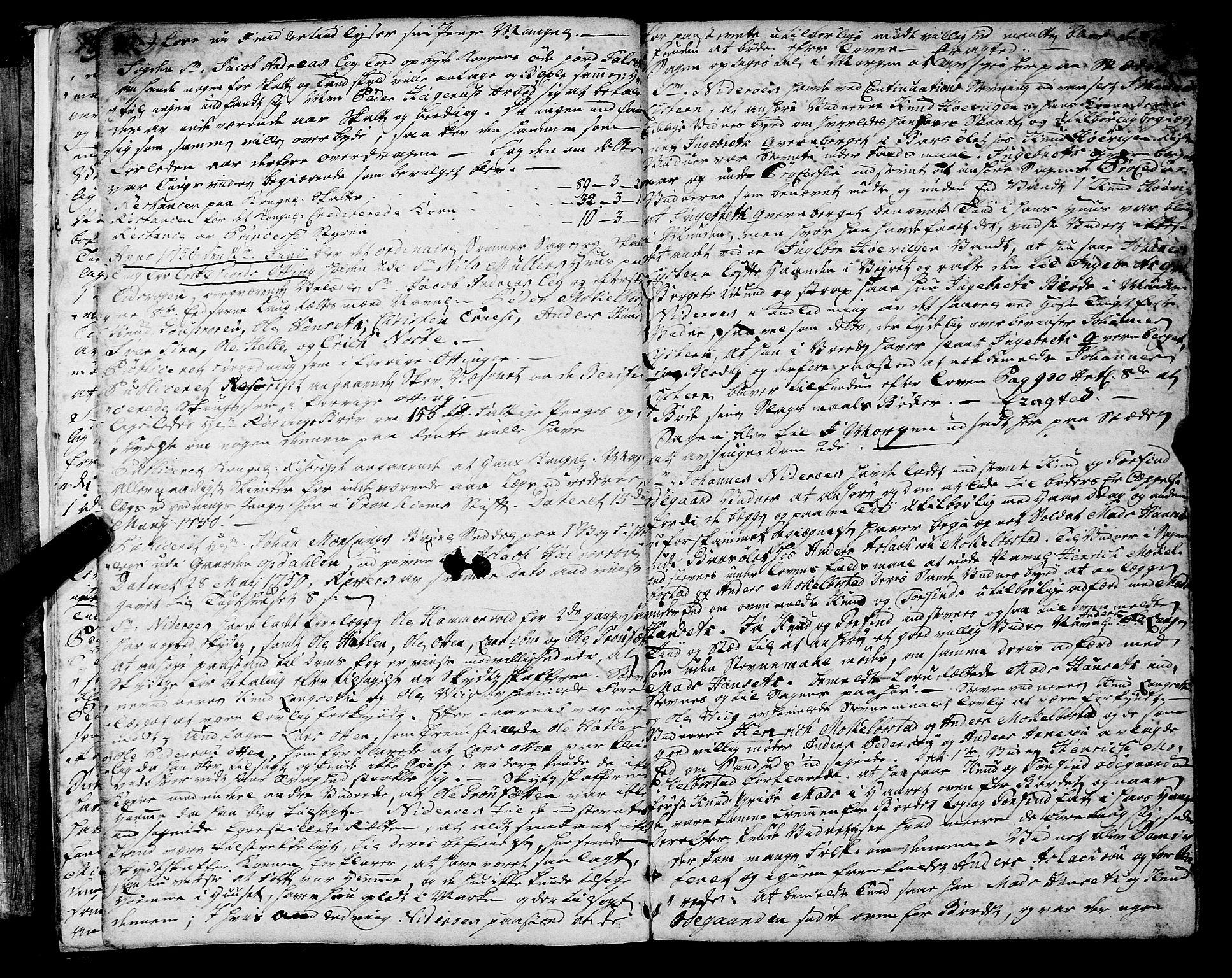 SAT, Romsdal sorenskriveri, 1/1A/L0013: Tingbok, 1749-1757, s. 20-21