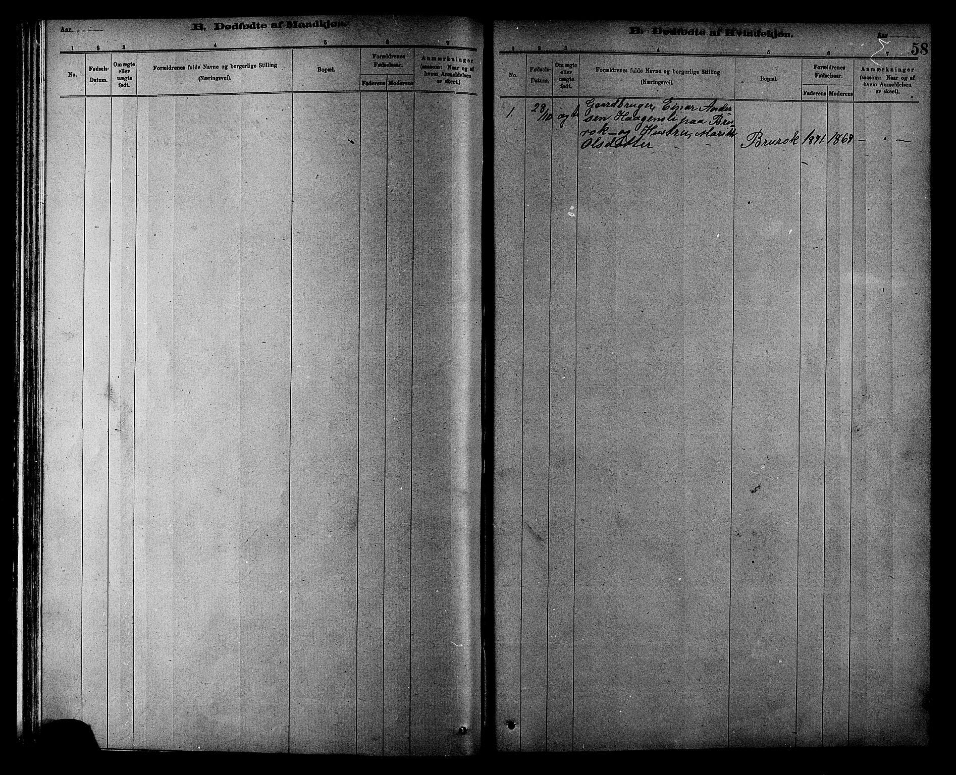 SAT, Ministerialprotokoller, klokkerbøker og fødselsregistre - Sør-Trøndelag, 608/L0341: Klokkerbok nr. 608C07, 1890-1912, s. 58