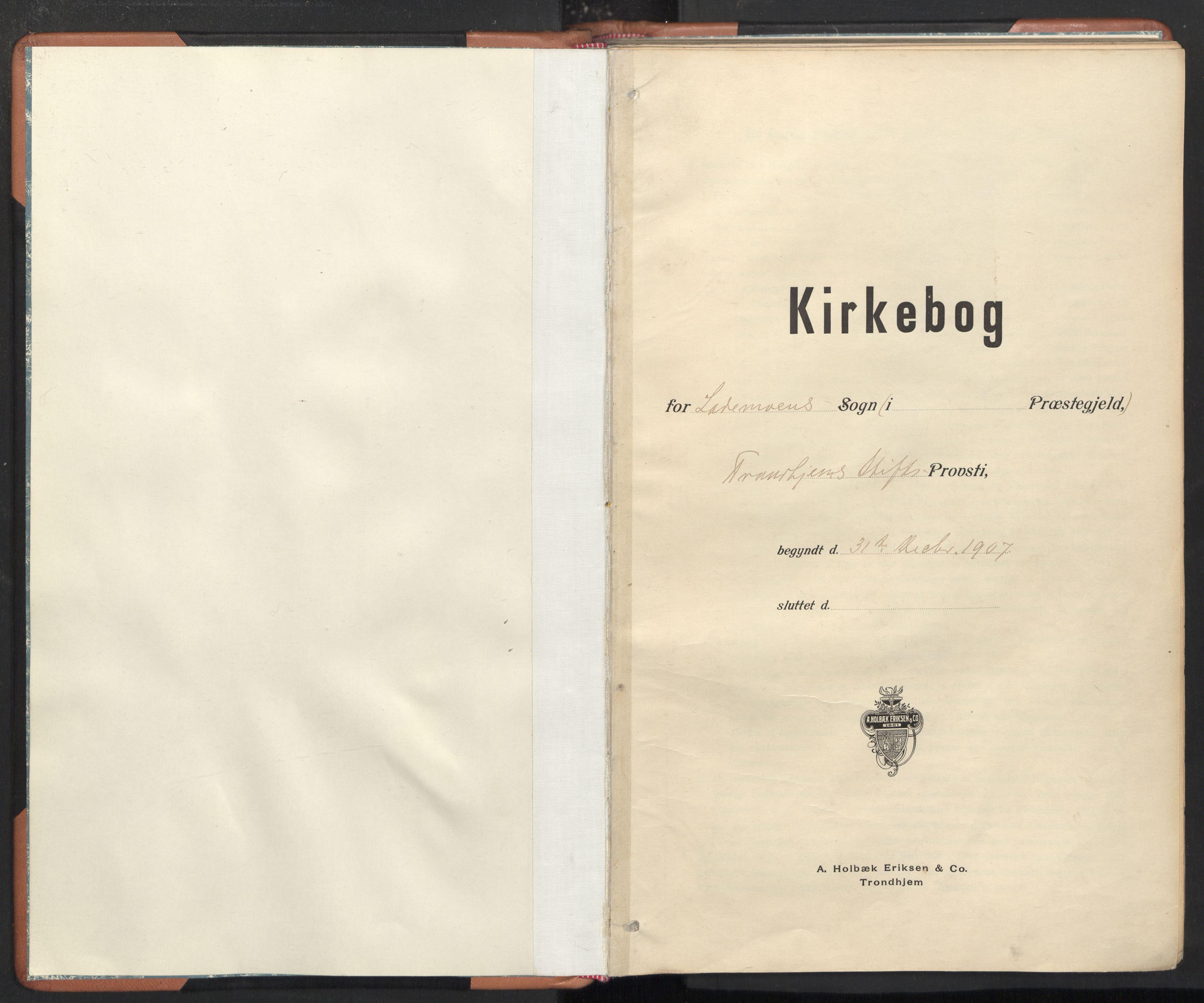 SAT, Ministerialprotokoller, klokkerbøker og fødselsregistre - Sør-Trøndelag, 605/L0244: Ministerialbok nr. 605A06, 1908-1954