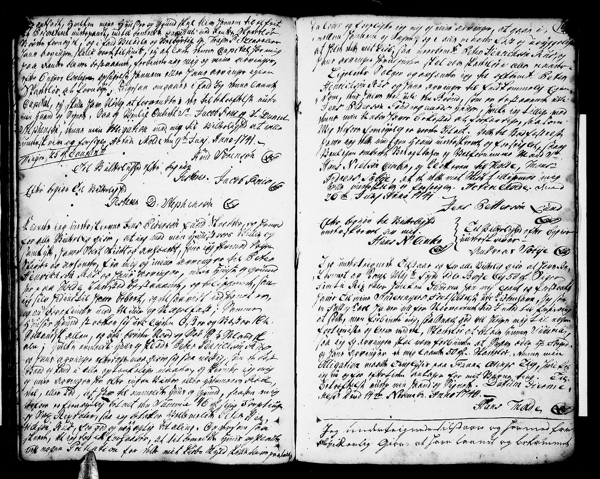 SAT, Romsdal sorenskriveri, 2/2C/L0002: Pantebok nr. 2, 1731-1745, s. 166