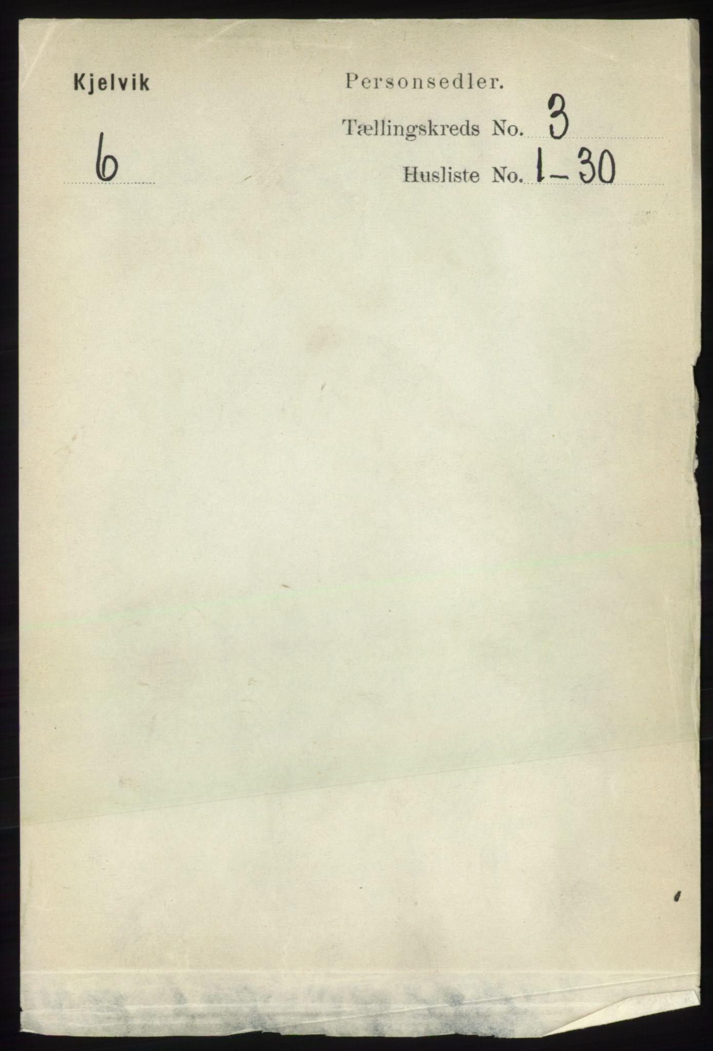 RA, Folketelling 1891 for 2019 Kjelvik herred, 1891, s. 245