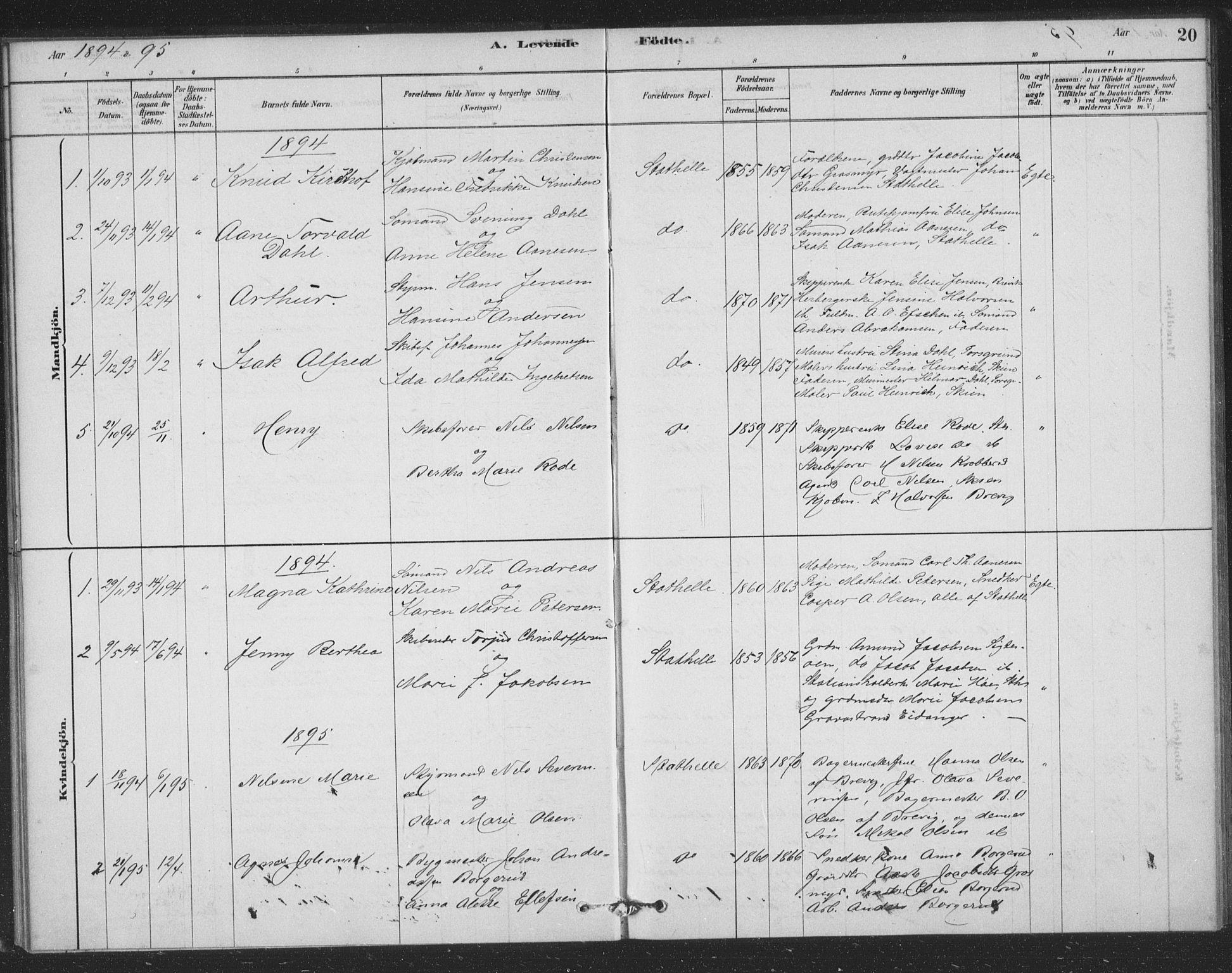 SAKO, Bamble kirkebøker, F/Fb/L0001: Ministerialbok nr. II 1, 1878-1899, s. 20