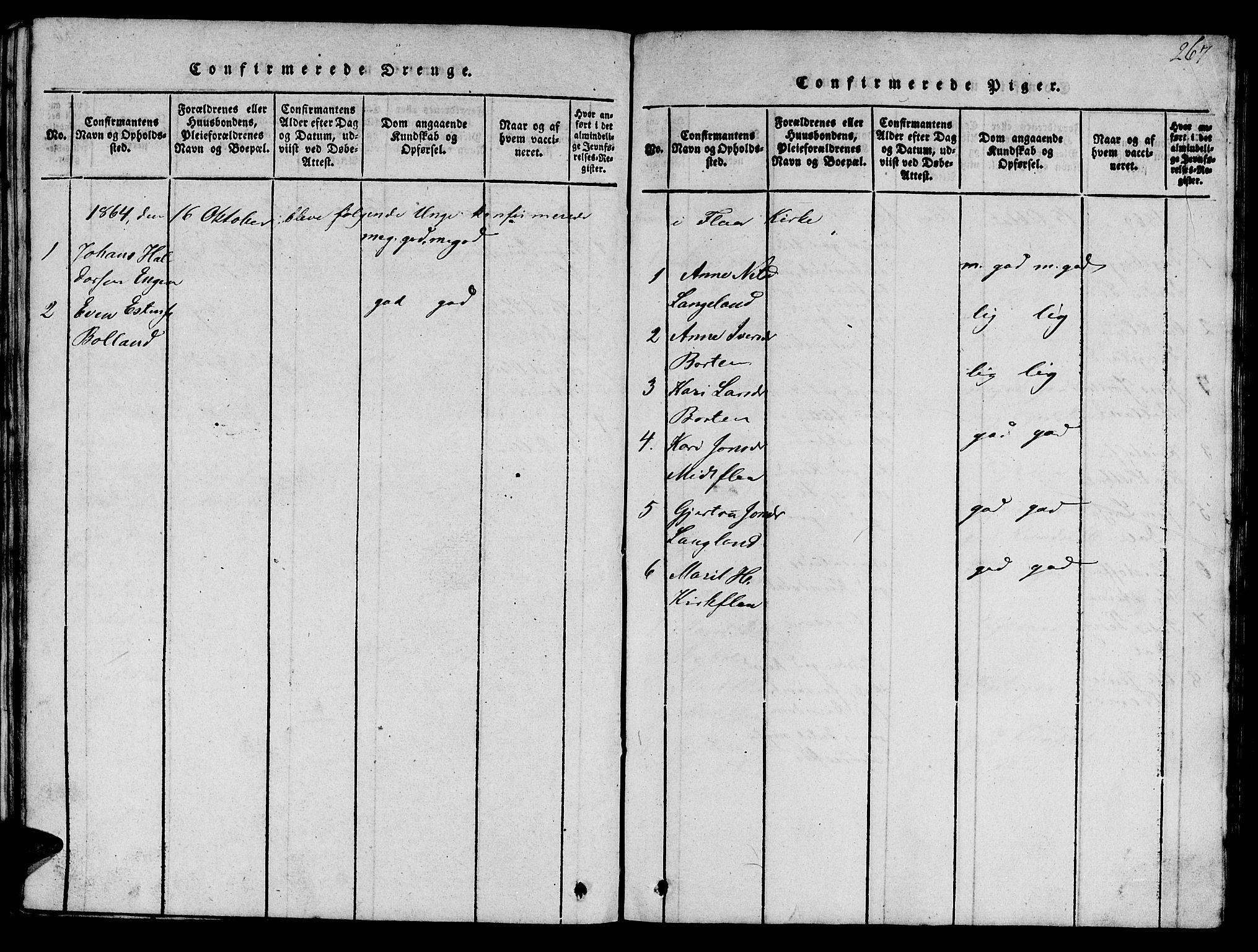 SAT, Ministerialprotokoller, klokkerbøker og fødselsregistre - Sør-Trøndelag, 693/L1121: Klokkerbok nr. 693C02, 1816-1869, s. 267