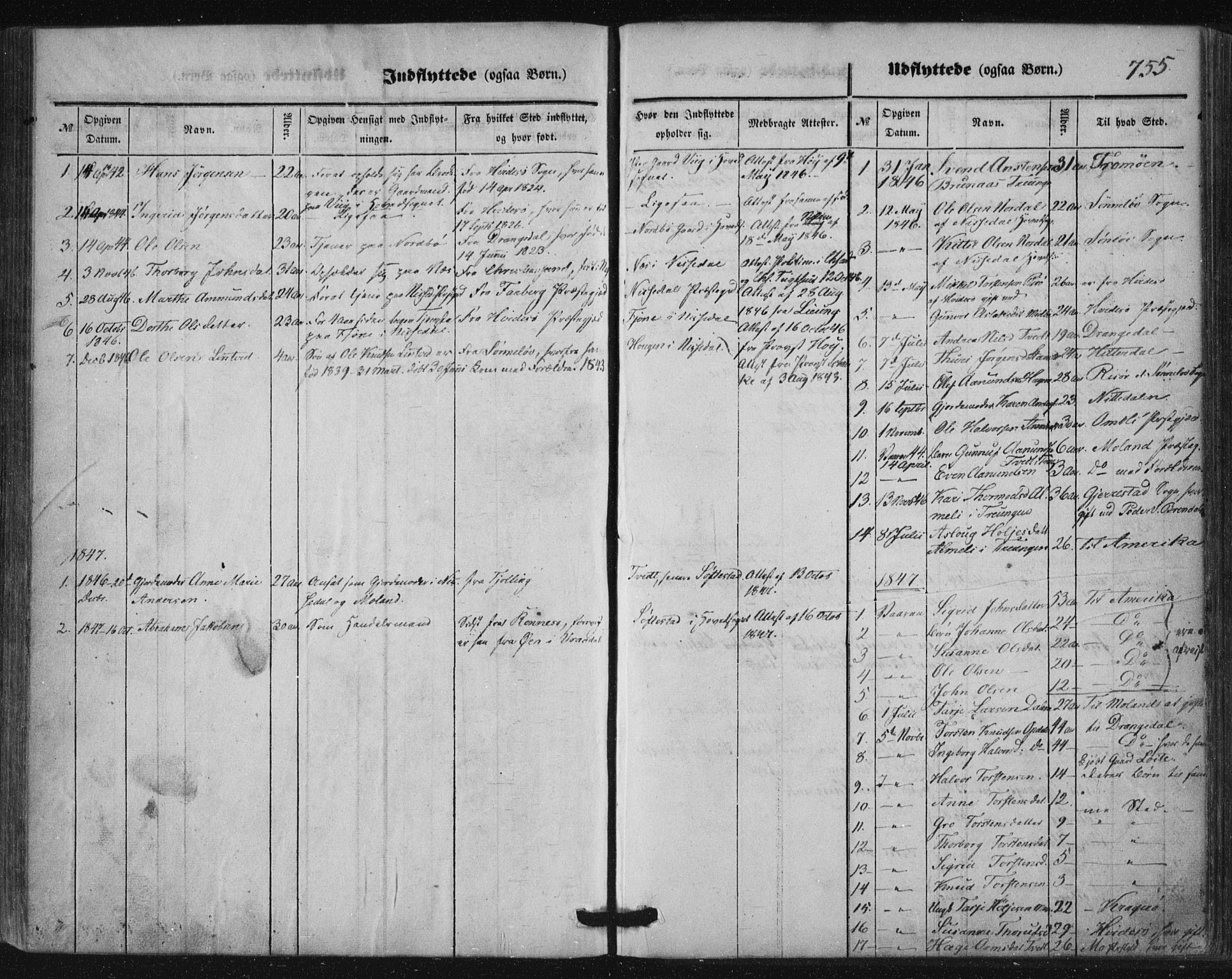 SAKO, Nissedal kirkebøker, F/Fa/L0003: Ministerialbok nr. I 3, 1846-1870, s. 754-755