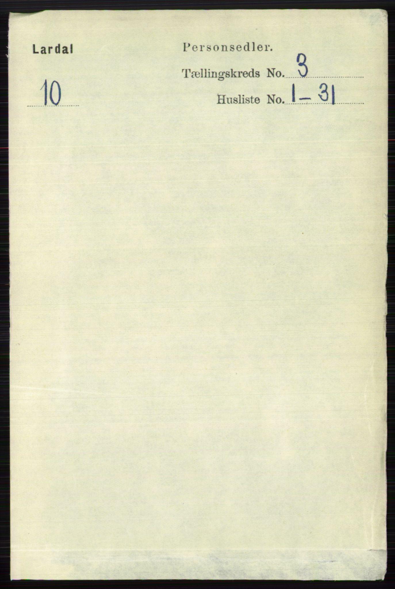 RA, Folketelling 1891 for 0728 Lardal herred, 1891, s. 1326
