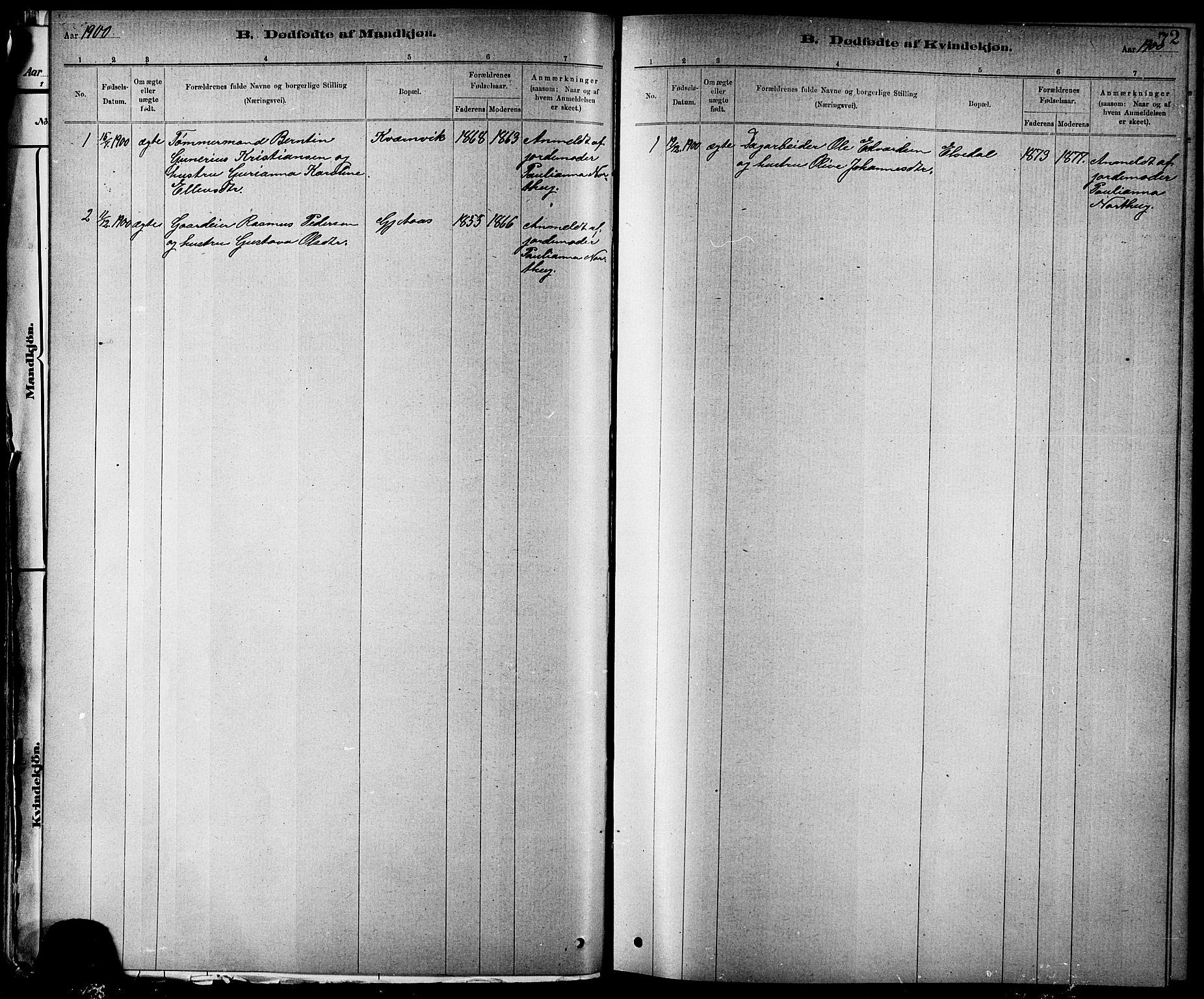 SAT, Ministerialprotokoller, klokkerbøker og fødselsregistre - Nord-Trøndelag, 744/L0423: Klokkerbok nr. 744C02, 1886-1905, s. 72