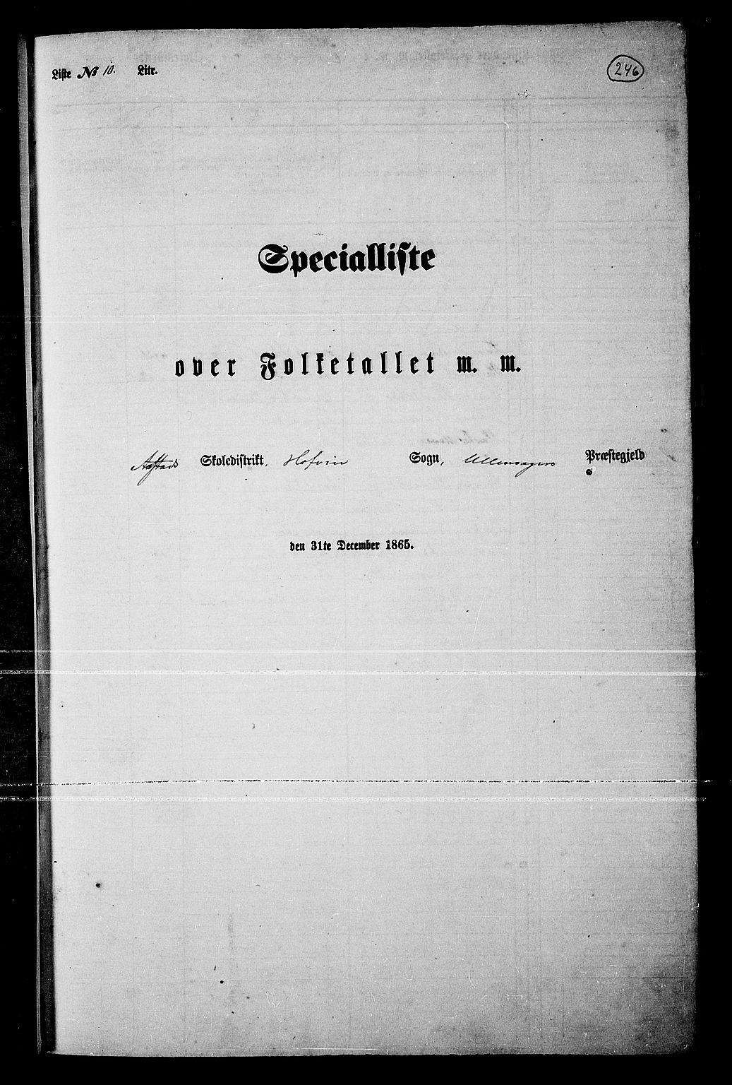 RA, Folketelling 1865 for 0235P Ullensaker prestegjeld, 1865, s. 218